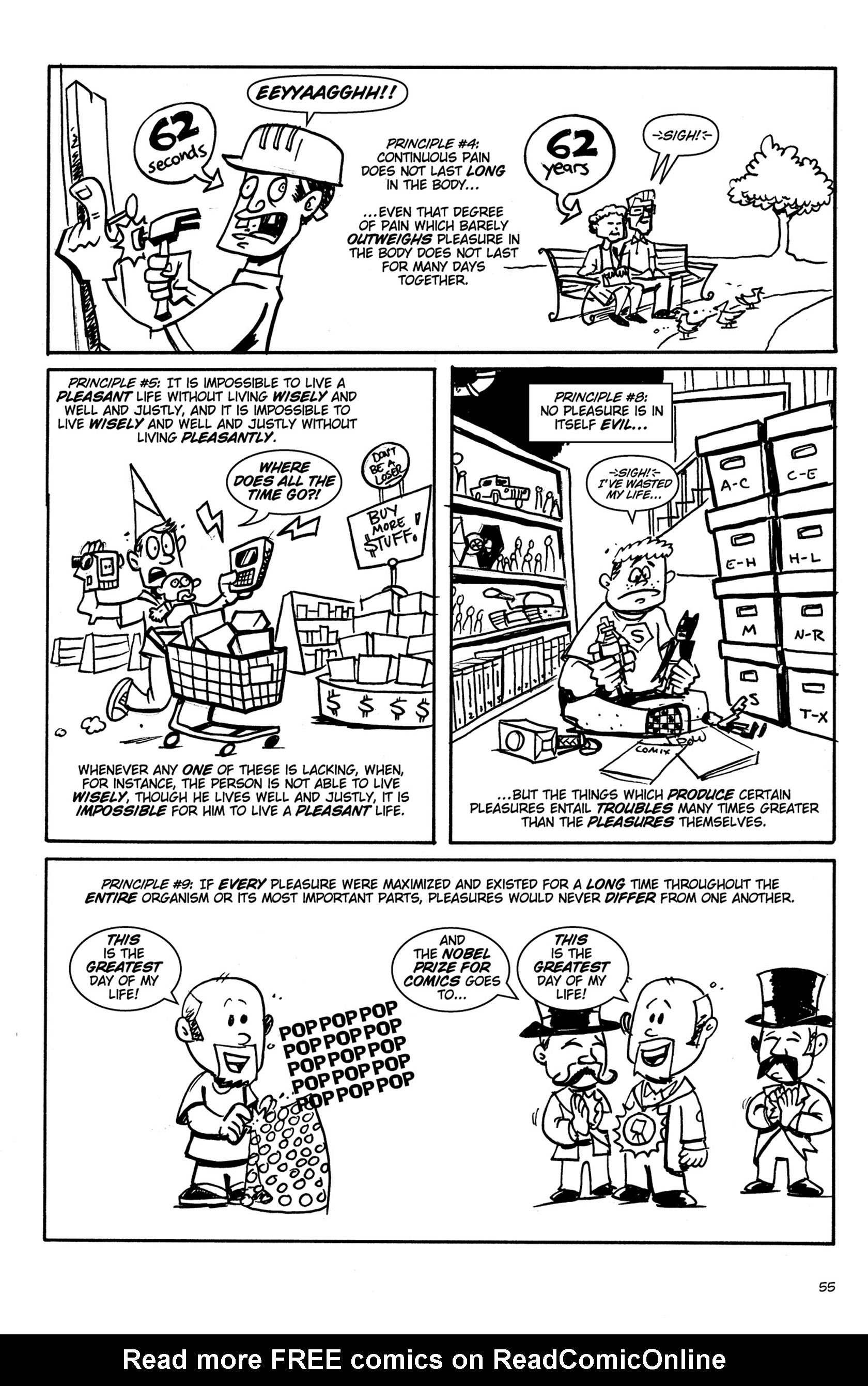 Read online Action Philosophers! comic -  Issue #Action Philosophers! TPB (Part 1) - 55