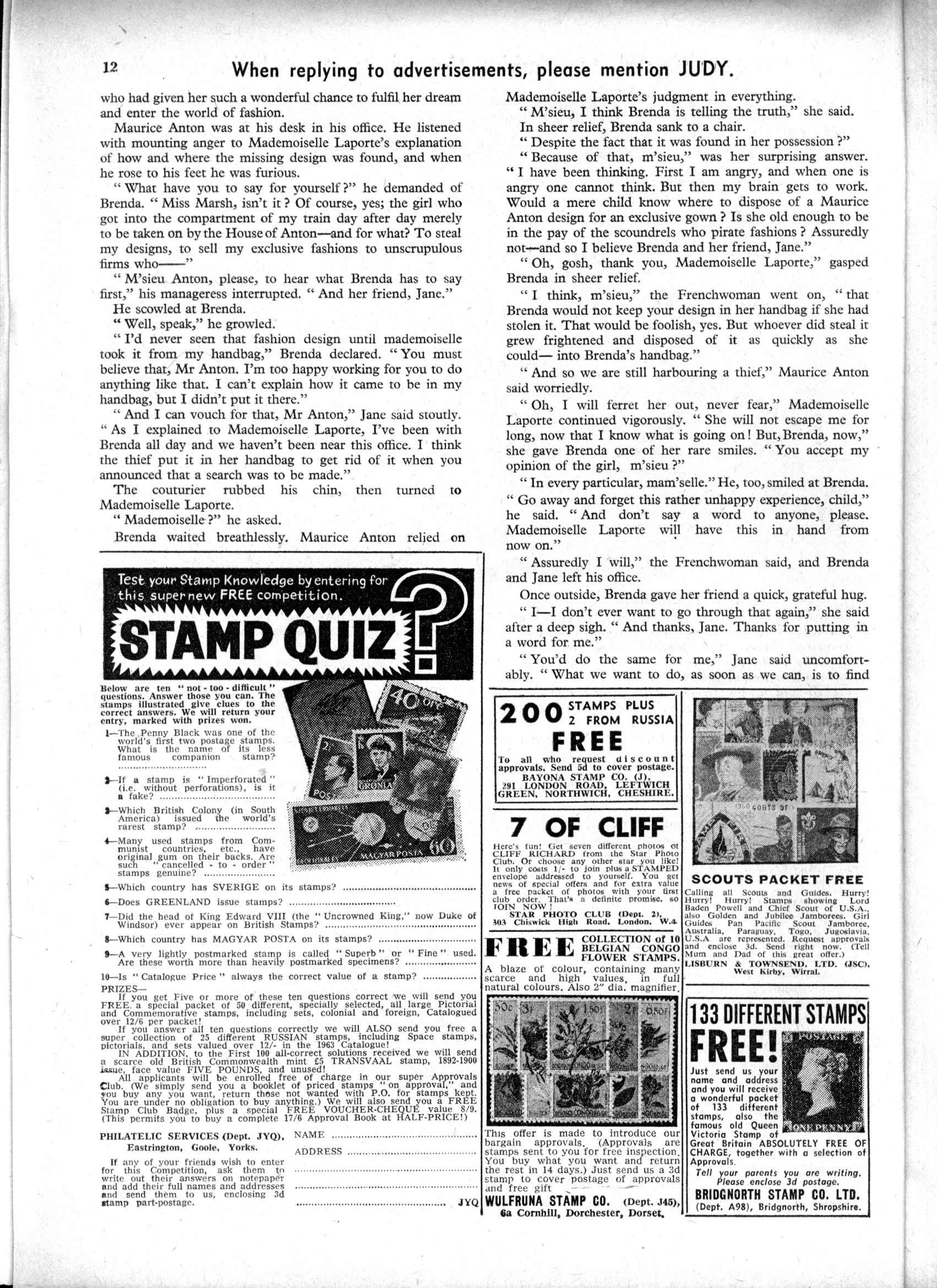 Read online Judy comic -  Issue #190 - 12