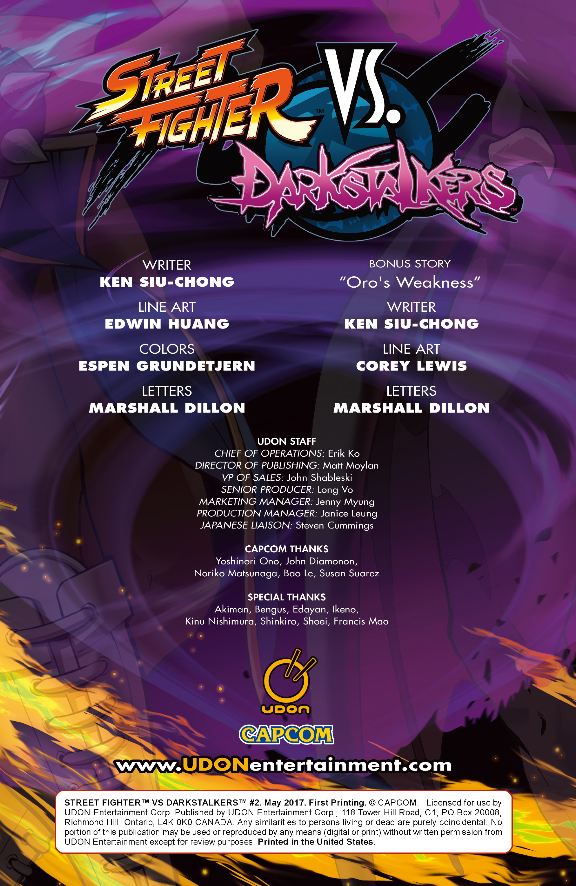 Read online Street Fighter VS Darkstalkers comic -  Issue #2 - 2
