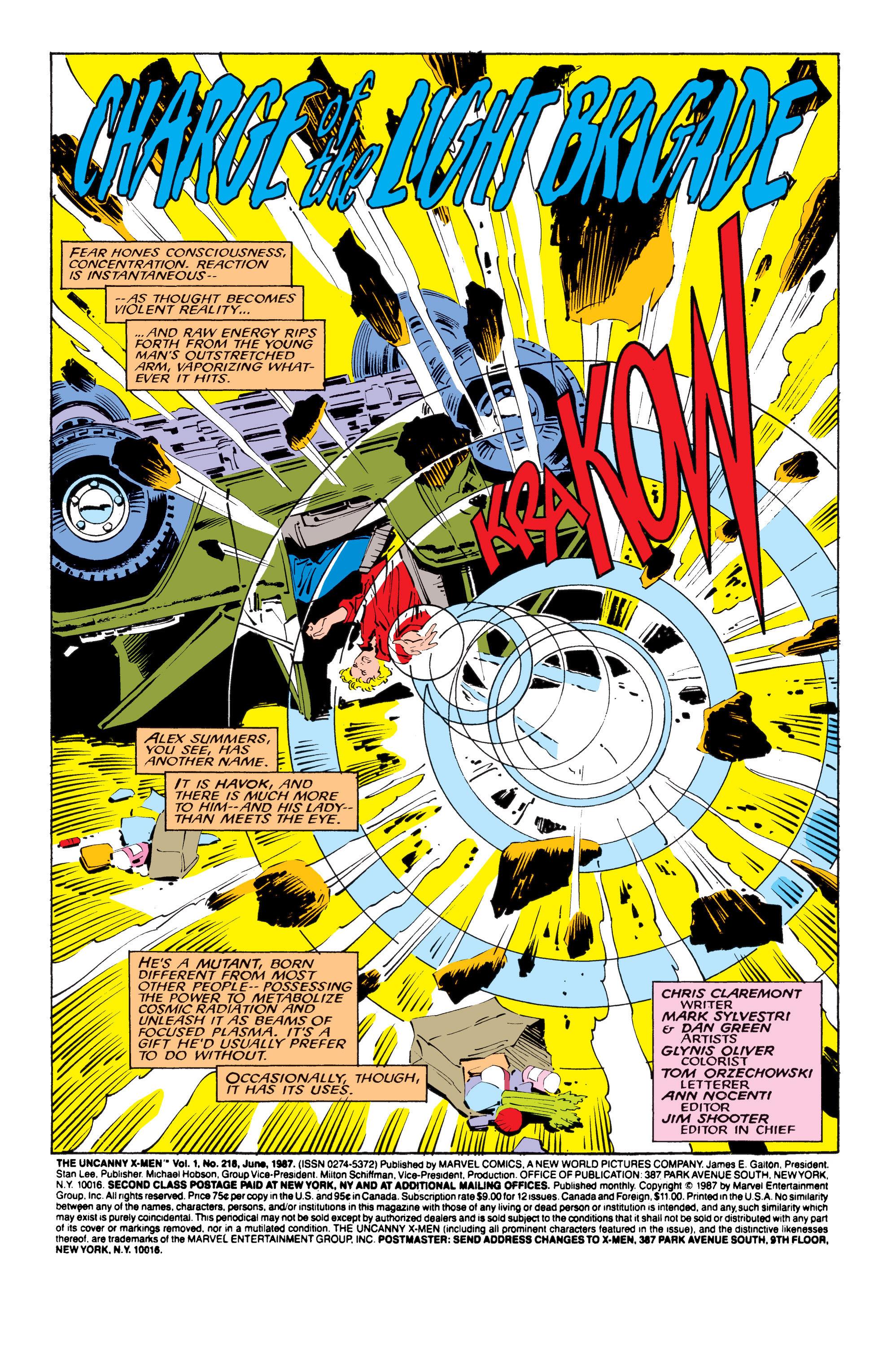 Read online Uncanny X-Men (1963) comic -  Issue #218 - 4