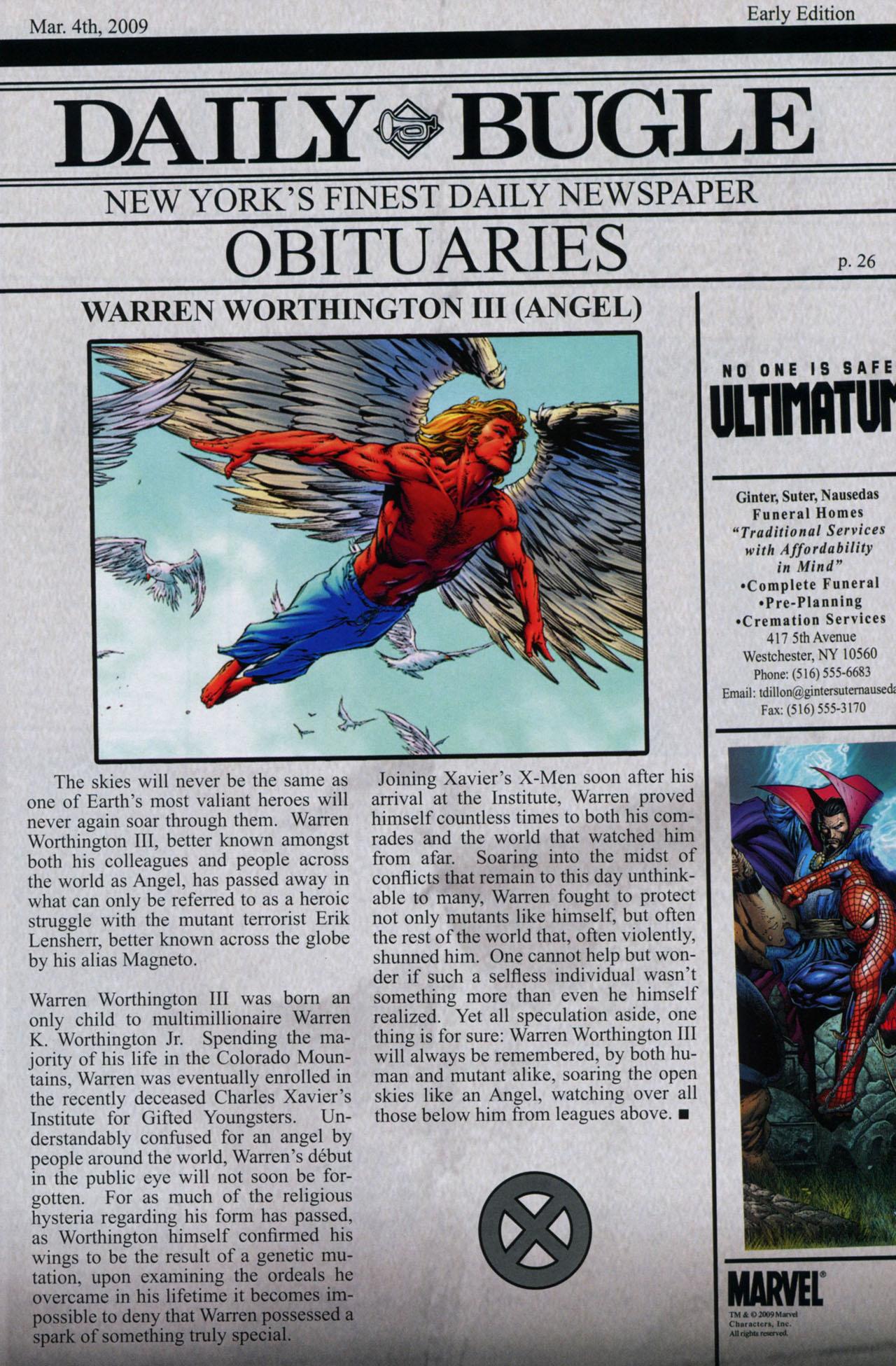 Read online Ultimatum: X-Men Requiem comic -  Issue # Full - 37