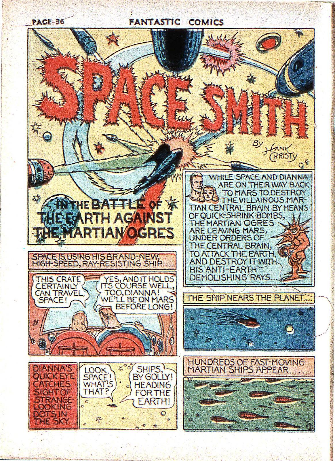 Read online Fantastic Comics comic -  Issue #2 - 37