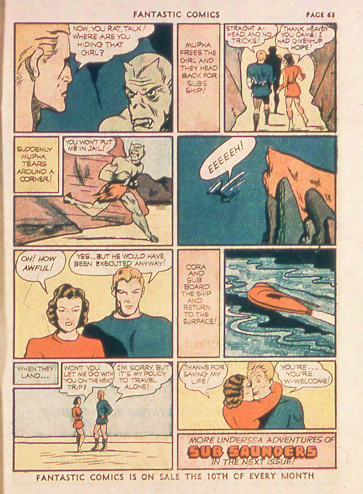 Read online Fantastic Comics comic -  Issue #18 - 65