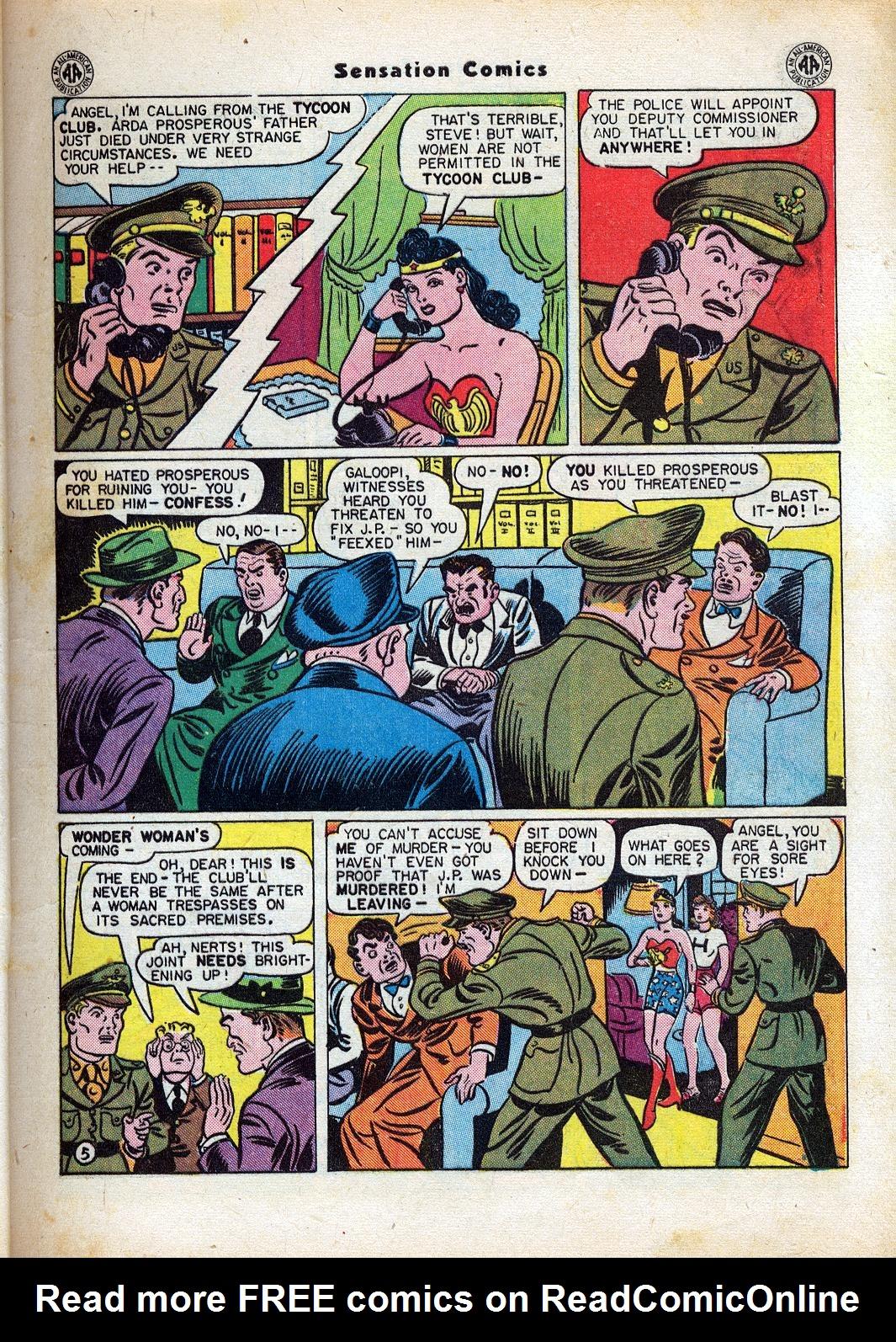 Read online Sensation (Mystery) Comics comic -  Issue #47 - 7
