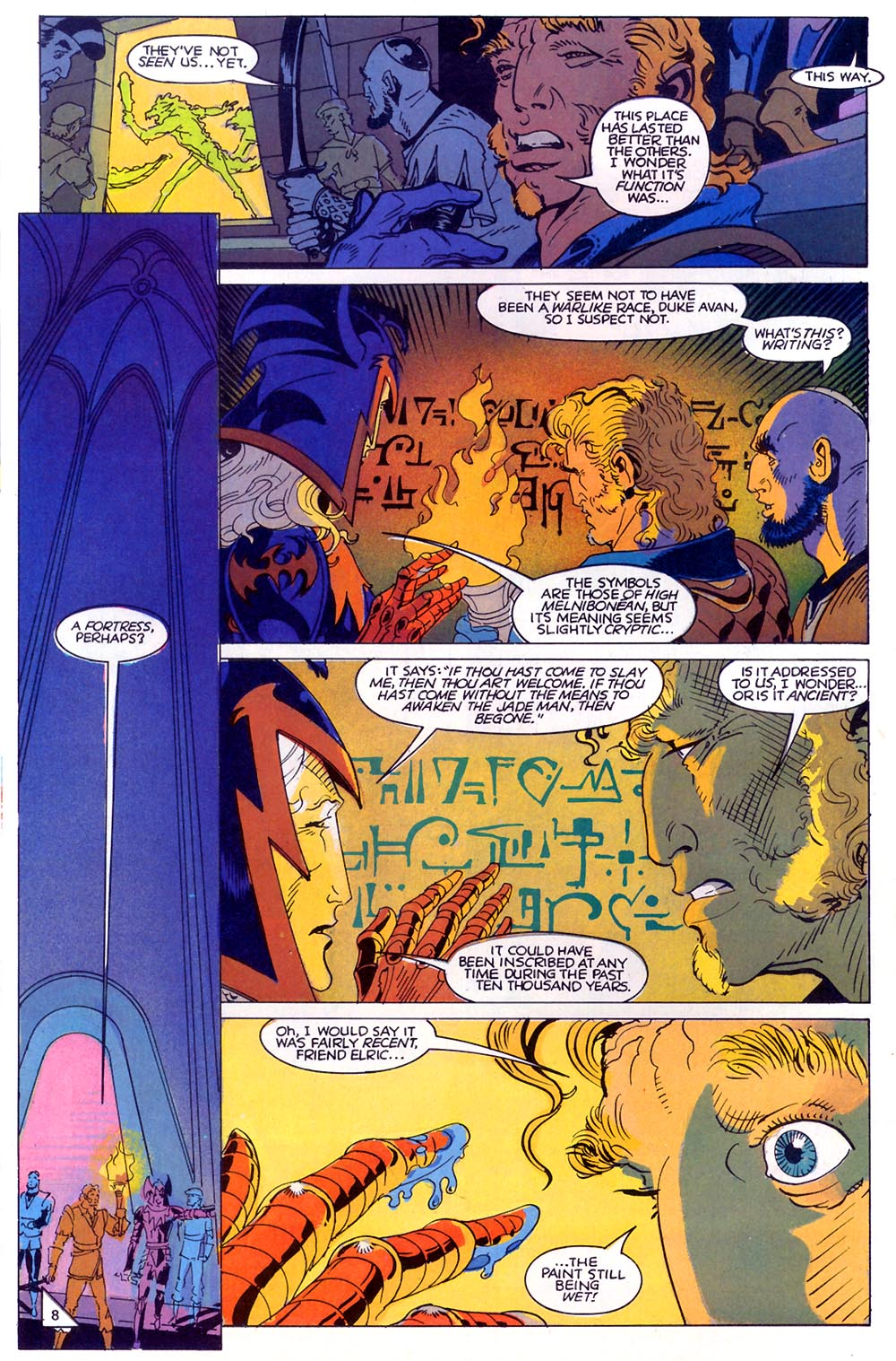 Read online Elric: Sailor on the Seas of Fate comic -  Issue #7 - 9