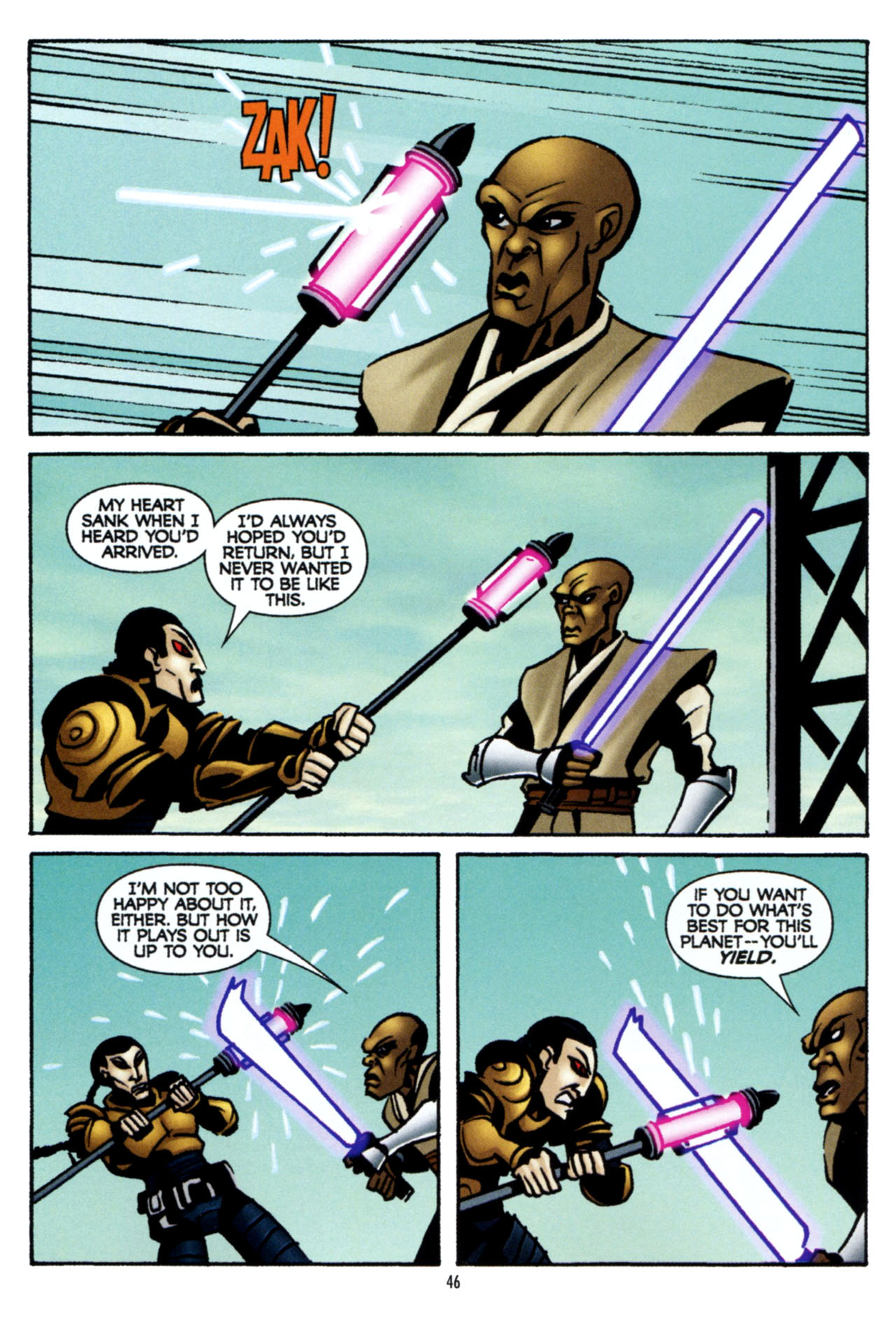 Read online Star Wars: The Clone Wars - The Colossus of Destiny comic -  Issue # Full - 46