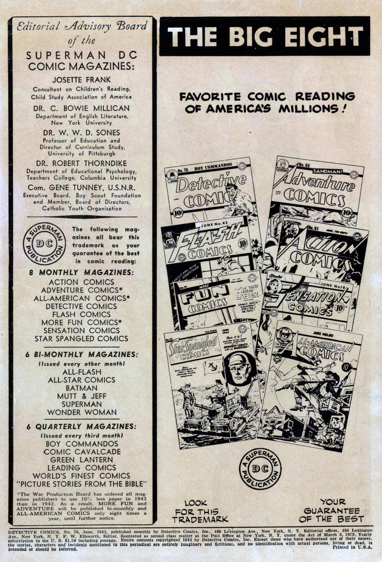 Read online Detective Comics (1937) comic -  Issue #76 - 2