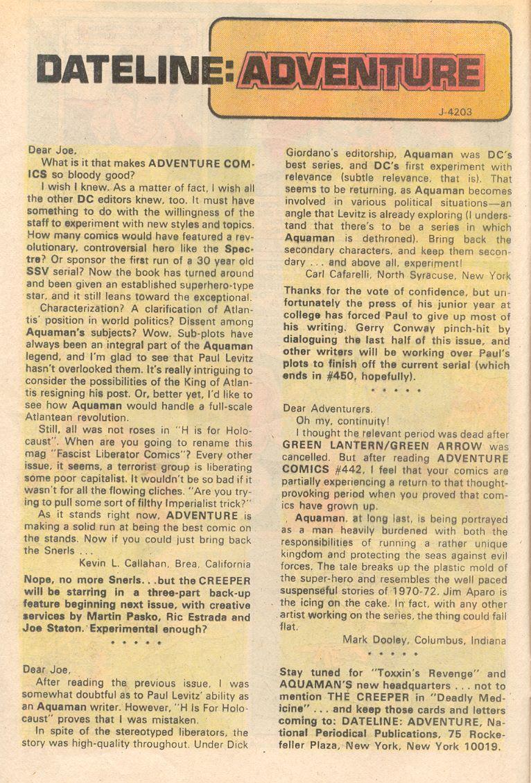 Read online Adventure Comics (1938) comic -  Issue #444 - 12