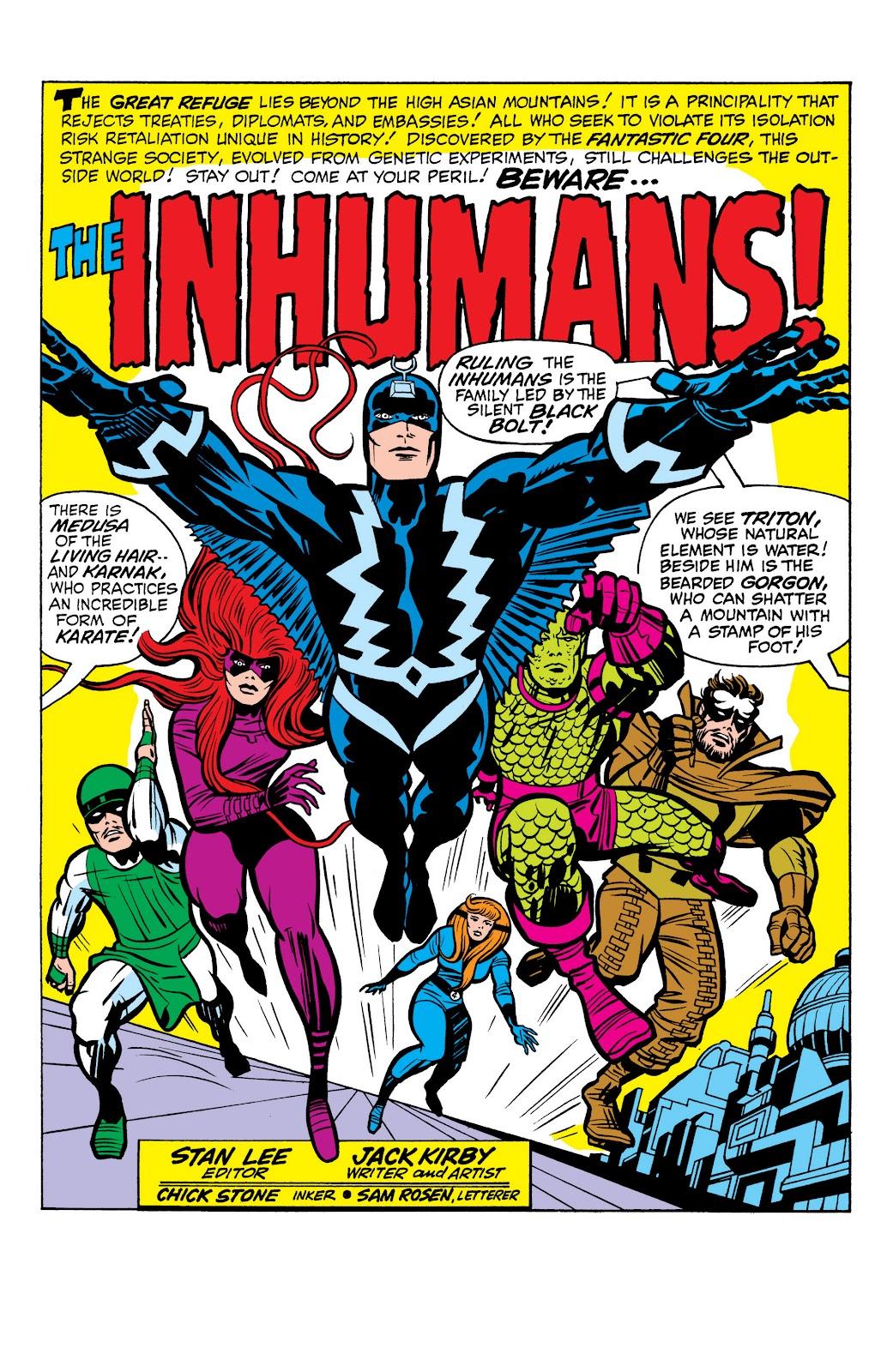 Read online Marvel Masterworks: The Inhumans comic -  Issue # TPB 1 (Part 1) - 70