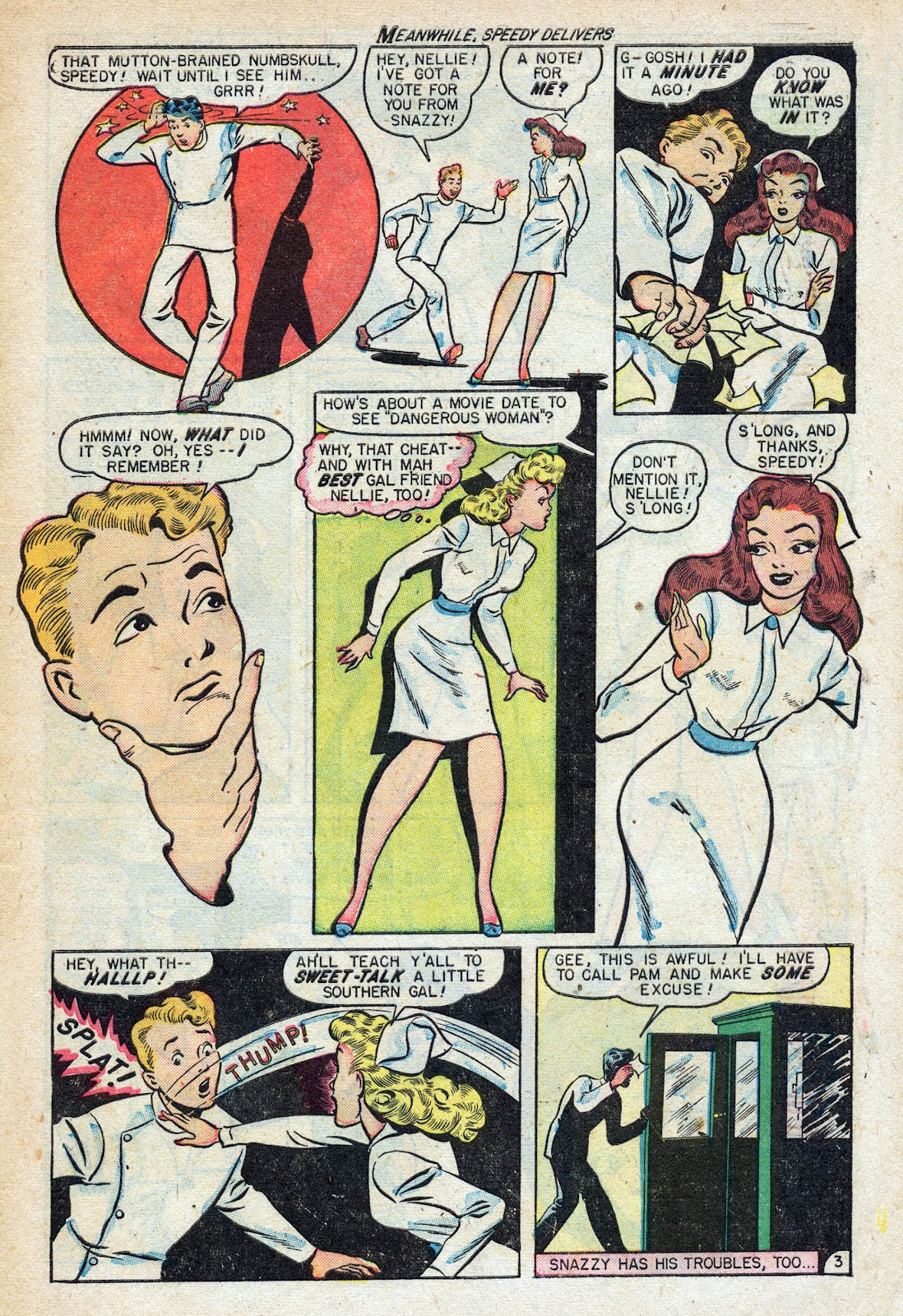 Read online Nellie The Nurse (1945) comic -  Issue #17 - 5