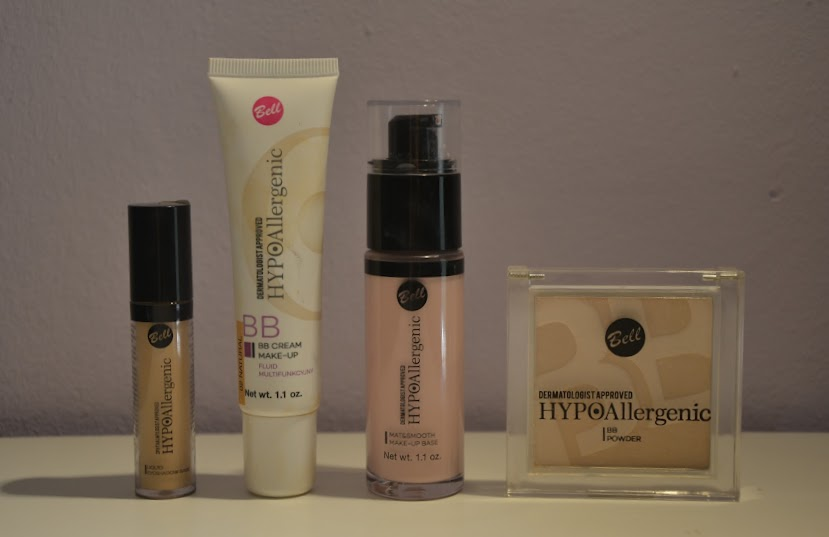 Bell Cosmetics Base Products.