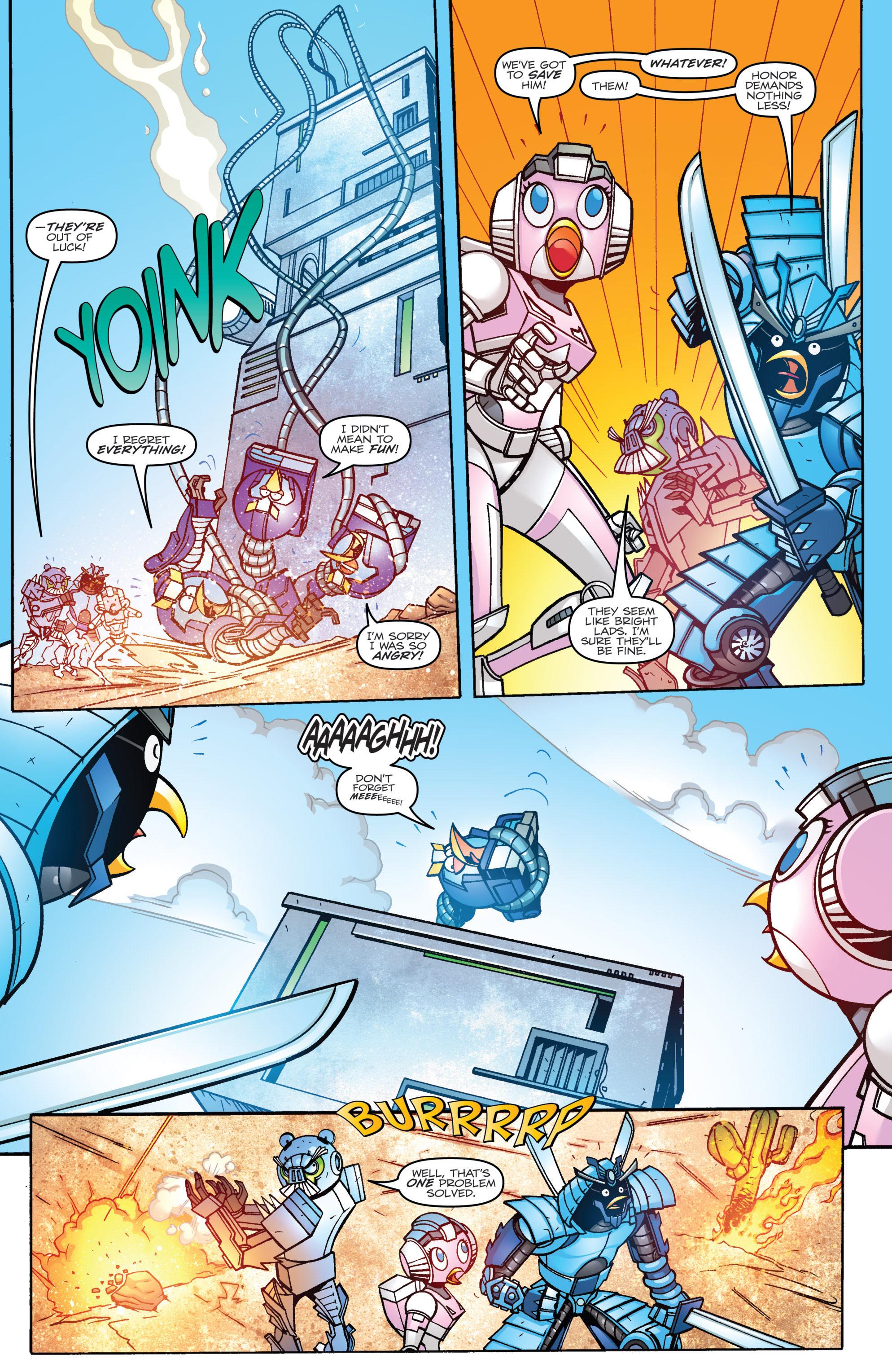 Read online Angry Birds Transformers comic -  Issue #3 - 9