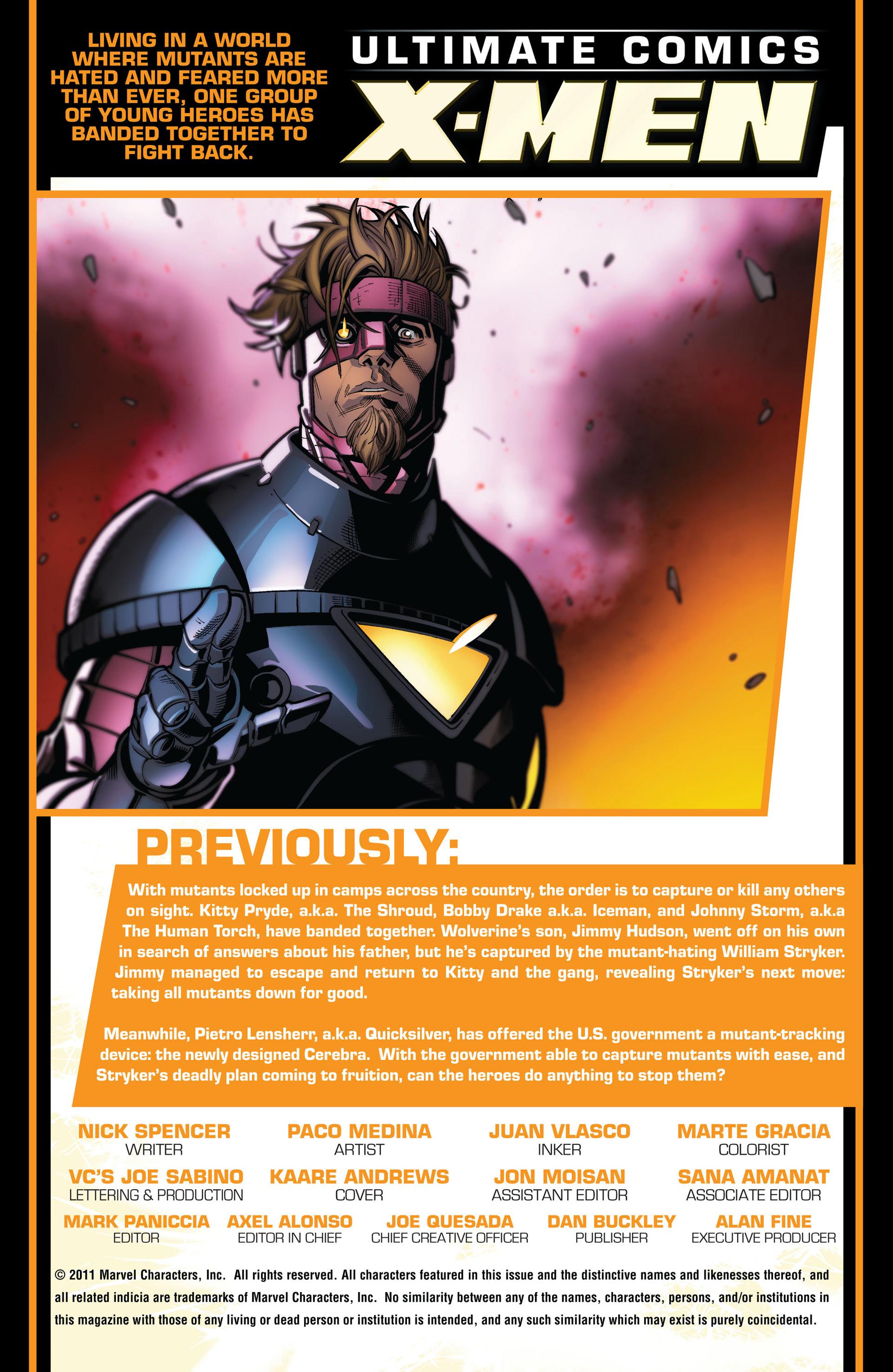 Read online Ultimate Comics X-Men comic -  Issue #4 - 2