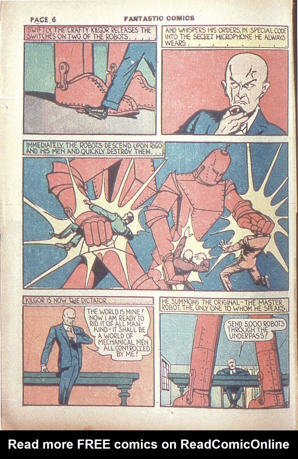 Read online Fantastic Comics comic -  Issue #4 - 8