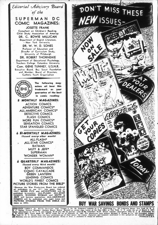 Sensation (Mystery) Comics 24 Page 1