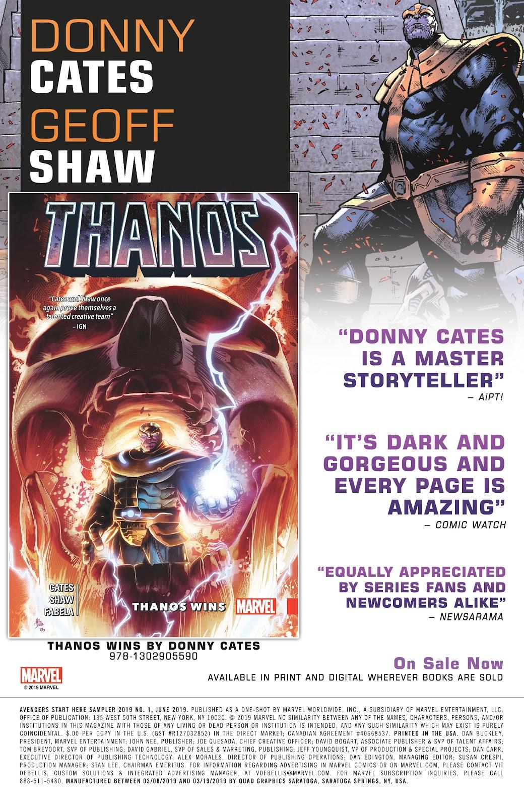 Read online Avengers Start Here Sampler 2019 comic -  Issue # Full - 29