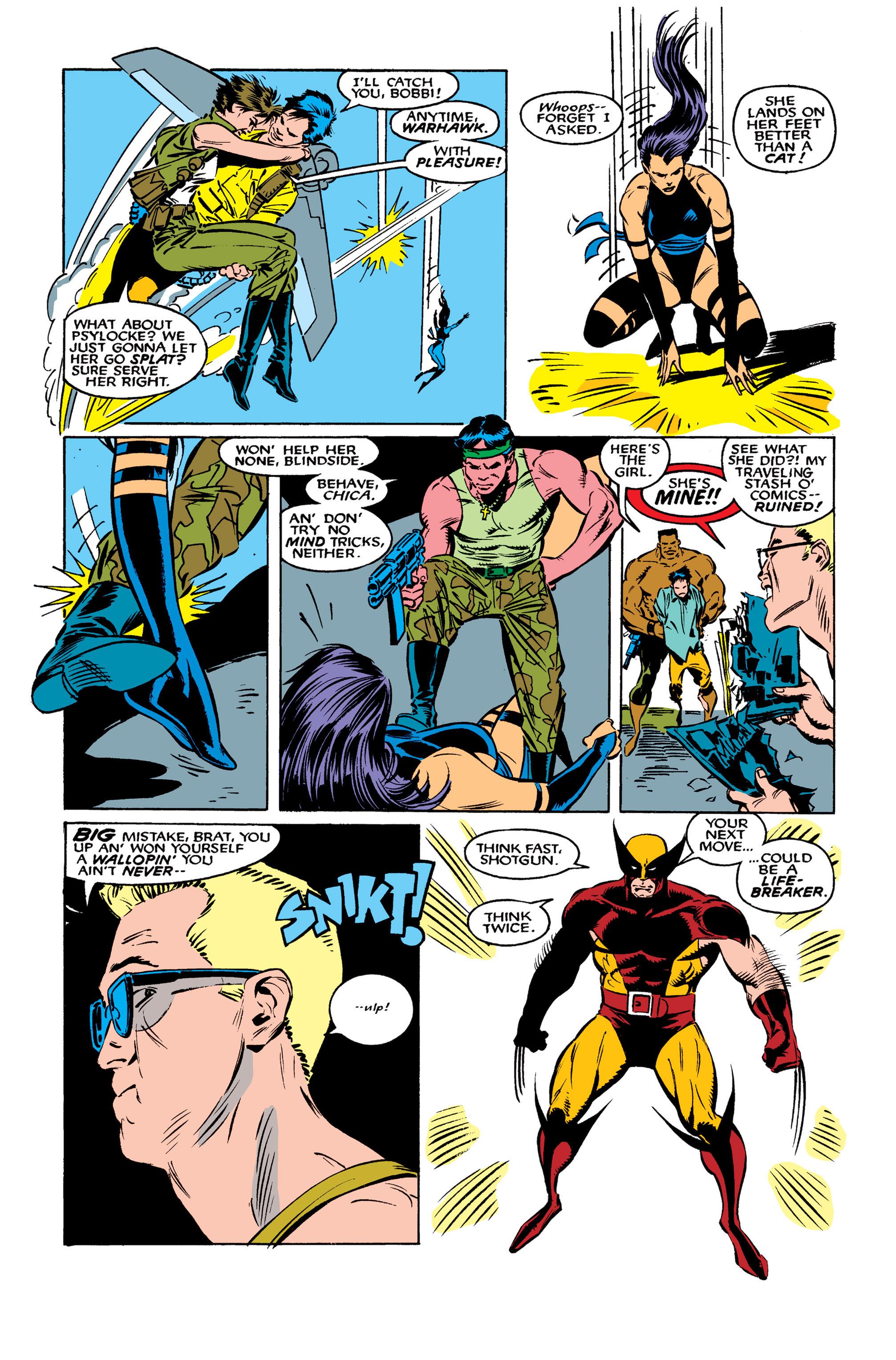 Read online Uncanny X-Men (1963) comic -  Issue #261 - 22