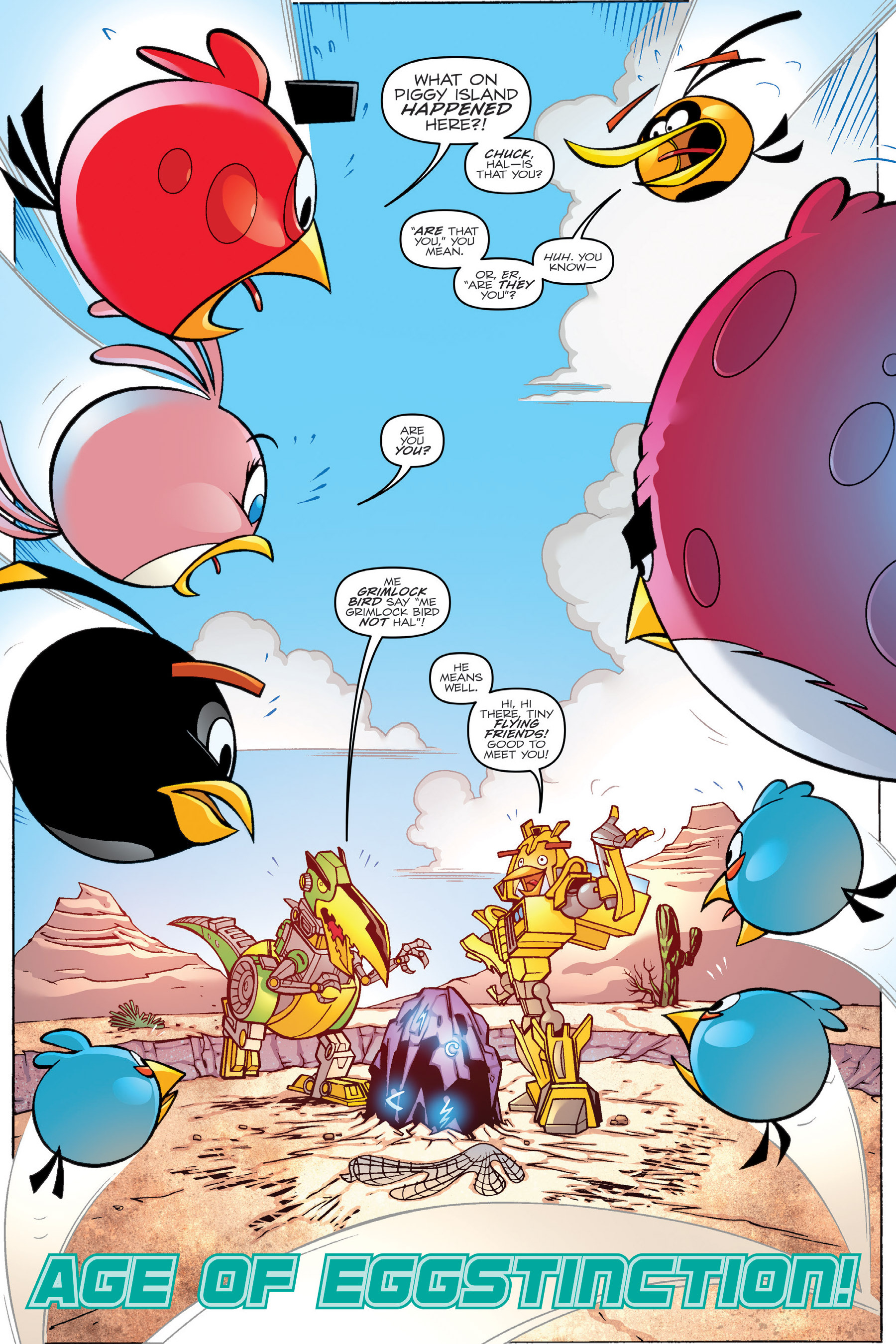 Read online Angry Birds Transformers: Age of Eggstinction comic -  Issue # Full - 28