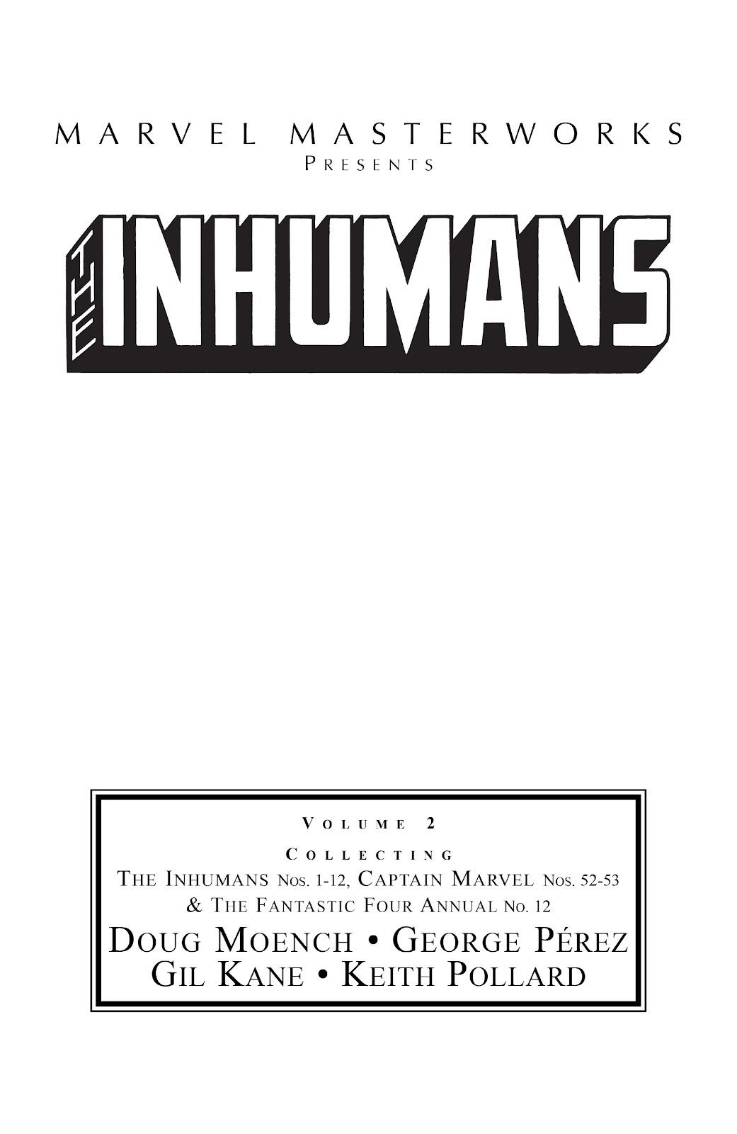 Read online Marvel Masterworks: The Inhumans comic -  Issue # TPB 2 (Part 1) - 2