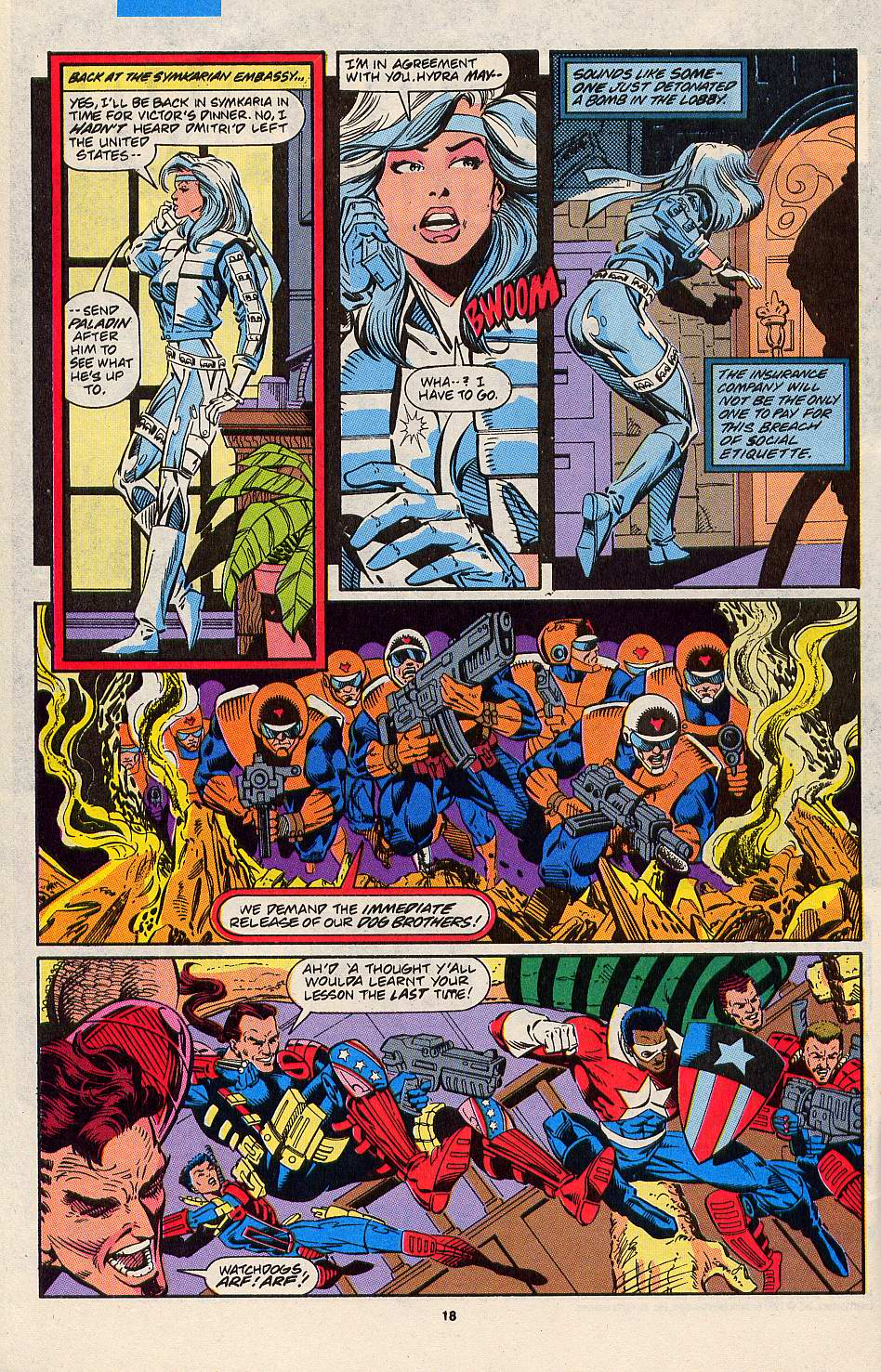 Read online Silver Sable and the Wild Pack comic -  Issue #3 - 15