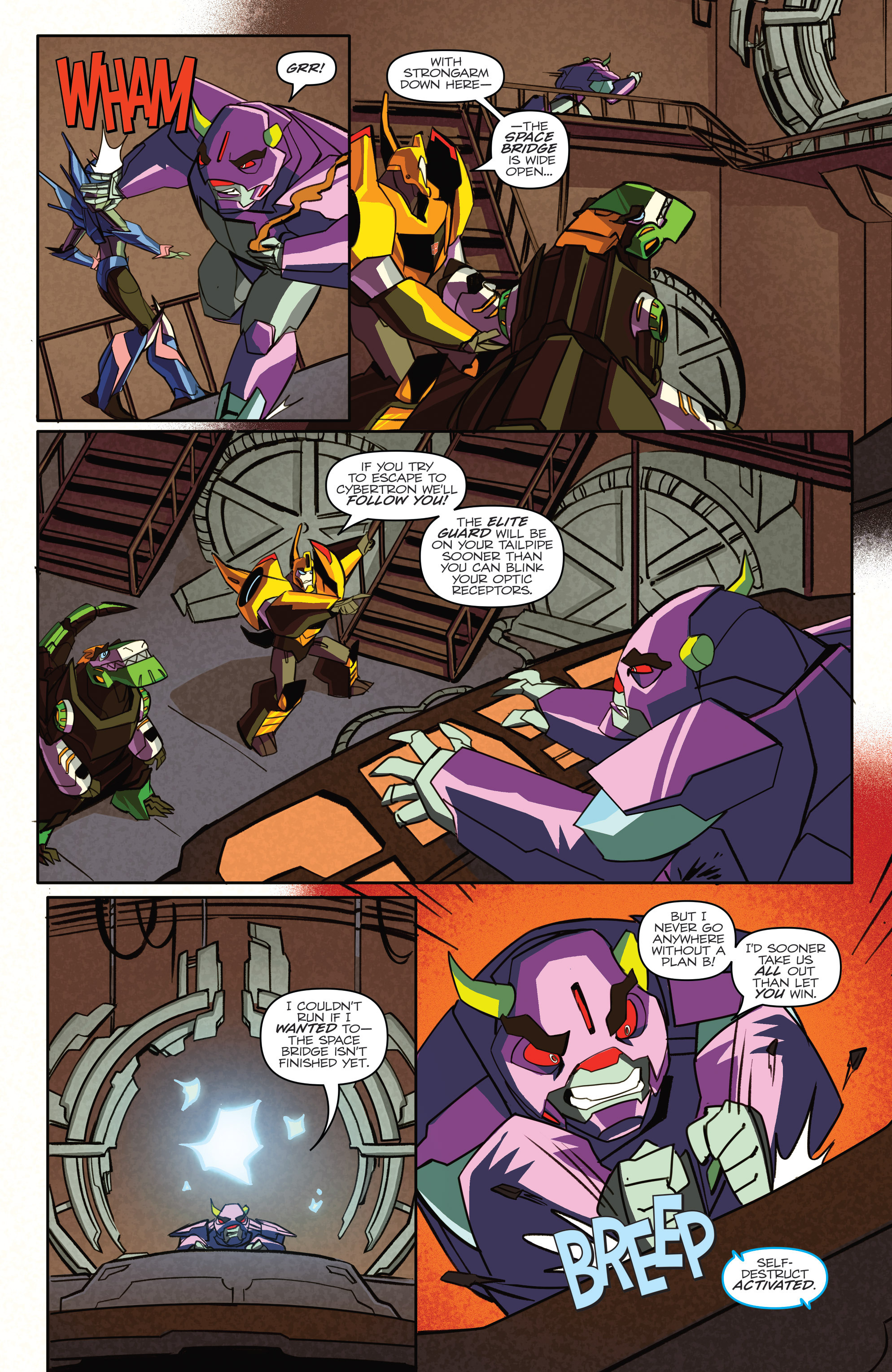 Read online Transformers: Robots In Disguise (2015) comic -  Issue #4 - 19