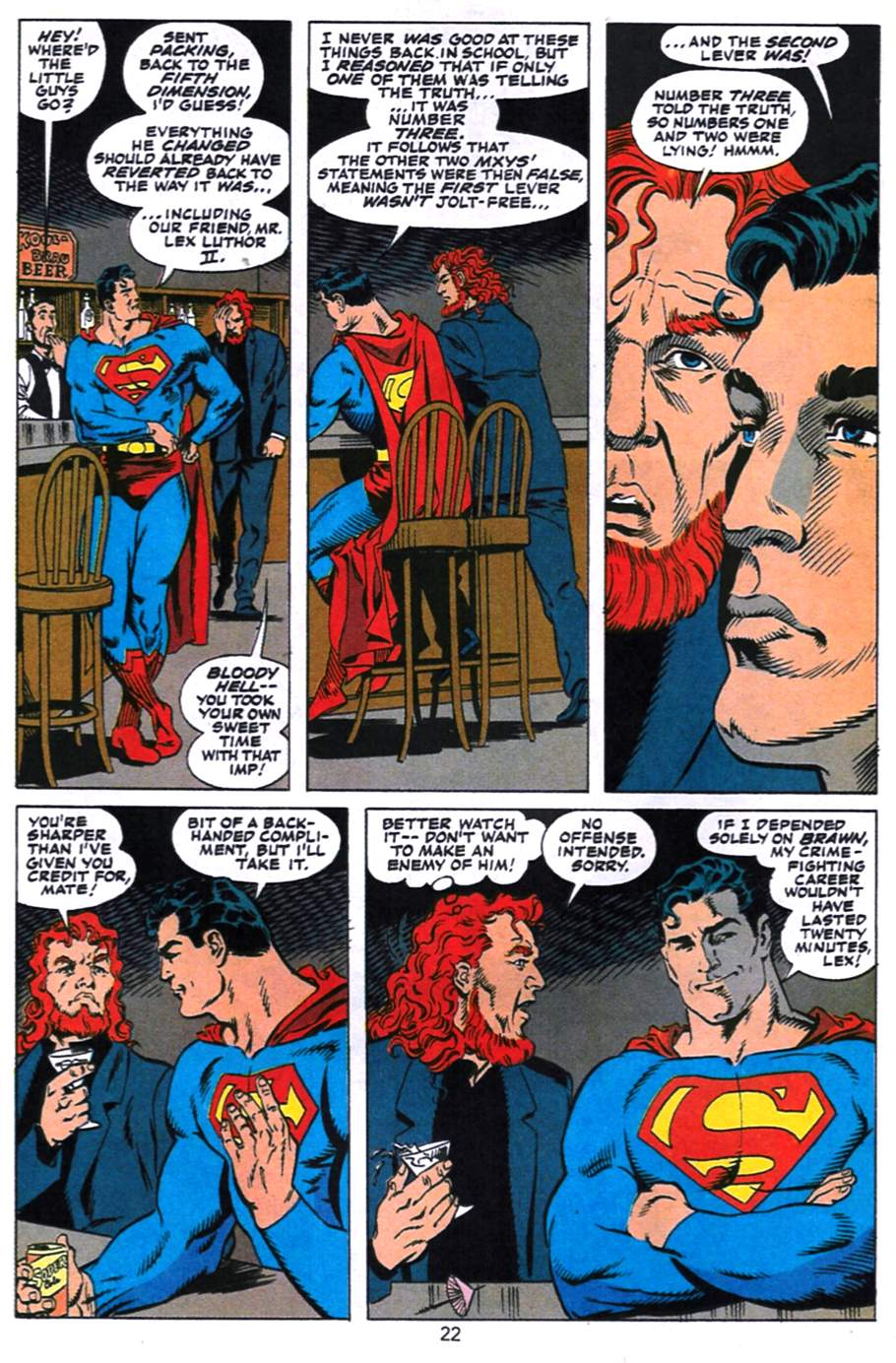 Read online Adventures of Superman (1987) comic -  Issue #496 - 23