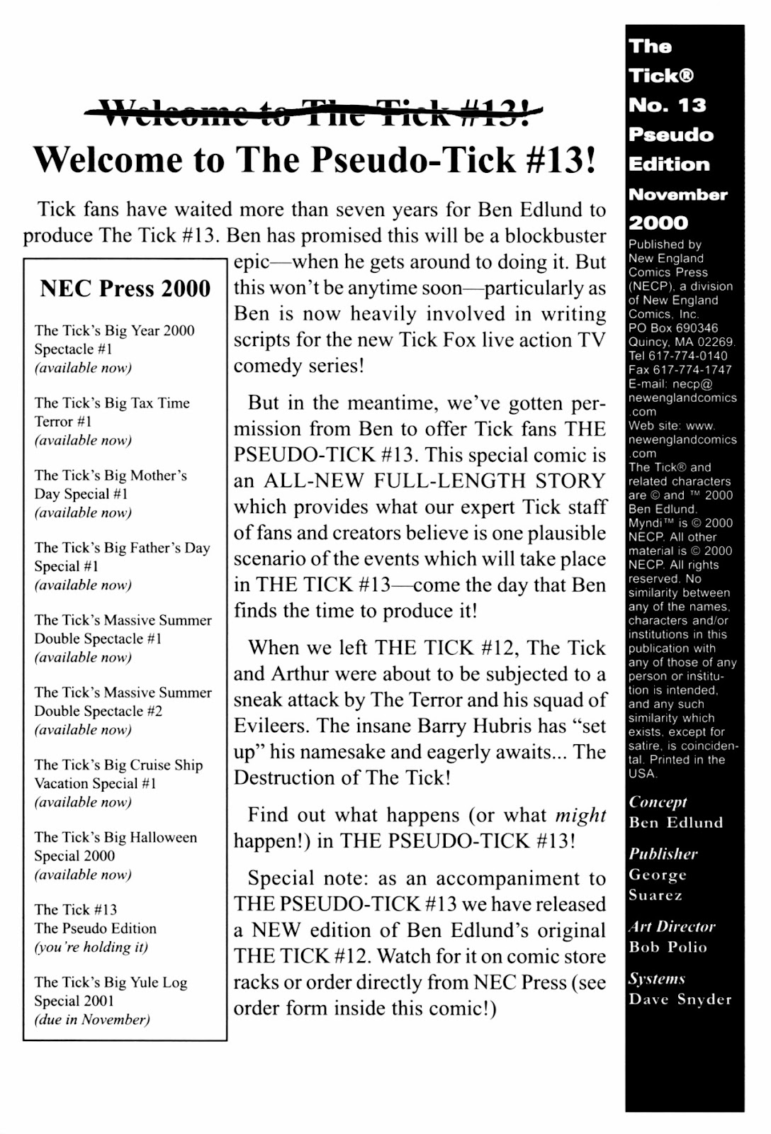 Read online The Tick comic -  Issue #13 - 2