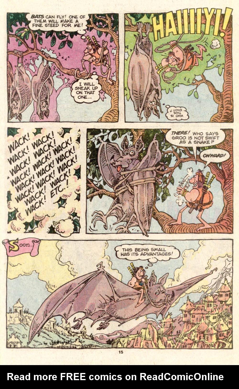 Read online Sergio Aragonés Groo the Wanderer comic -  Issue #26 - 16