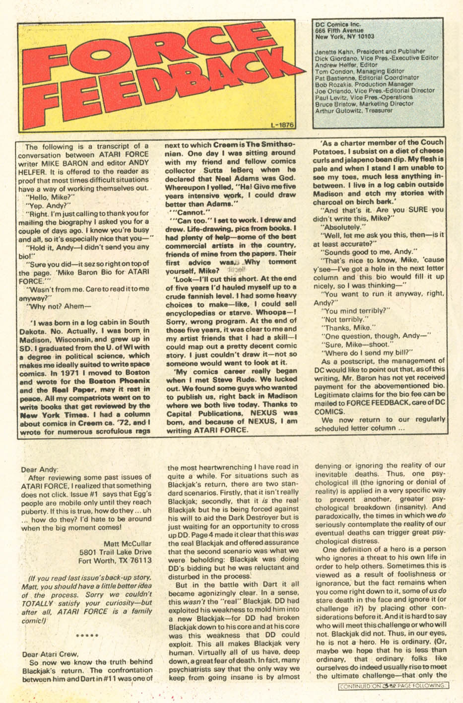 Read online Atari Force (1984) comic -  Issue #15 - 19