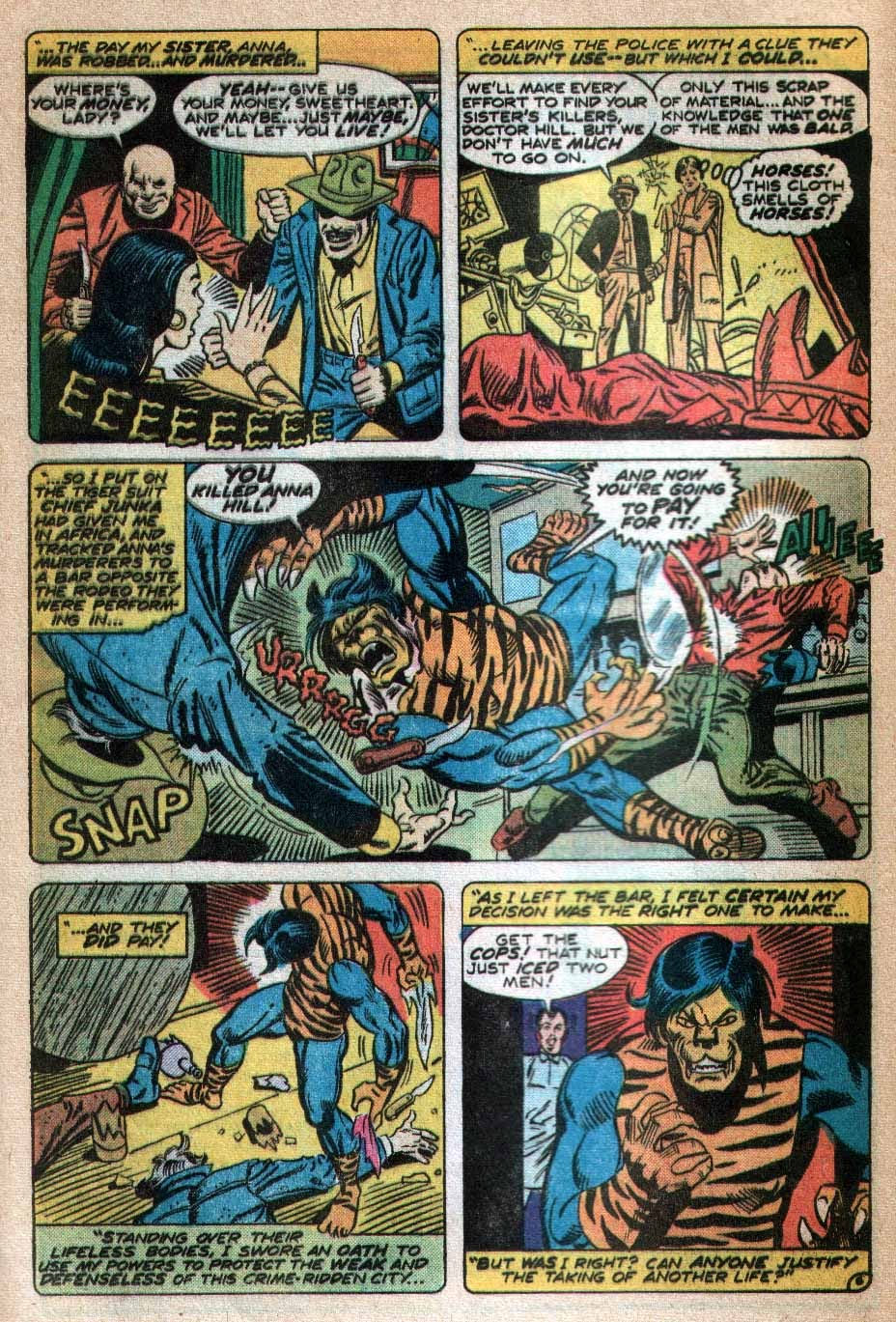 Read online Tiger-Man comic -  Issue #3 - 7
