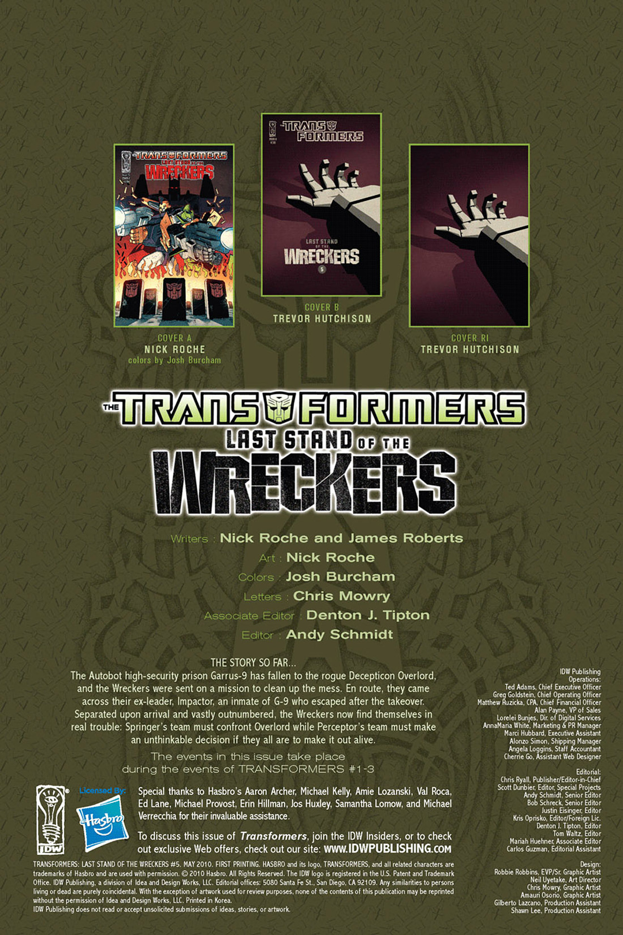 Read online Transformers: Last Stand of The Wreckers comic -  Issue #5 - 3