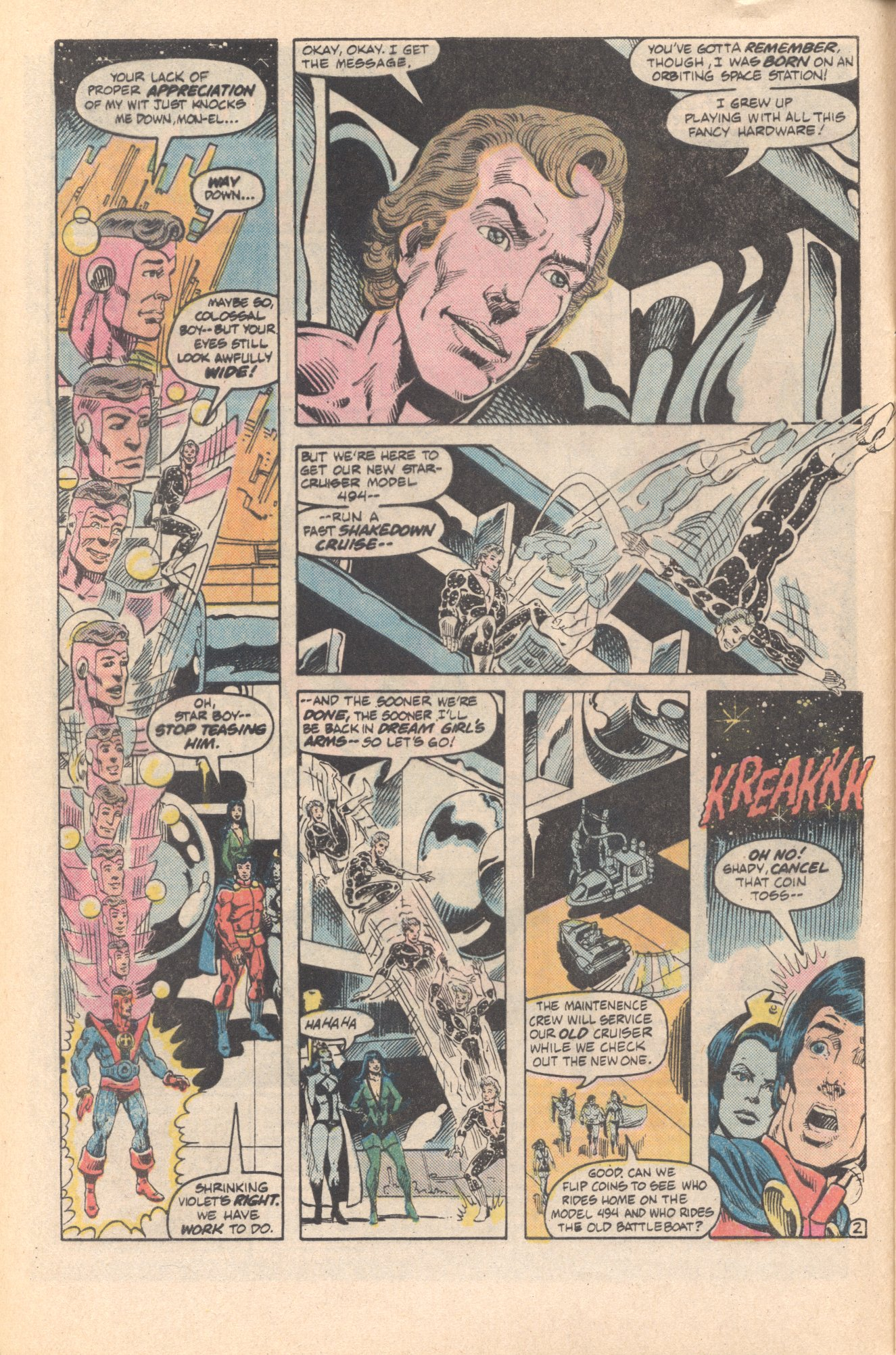 Legion of Super-Heroes (1980) 285 Page 2