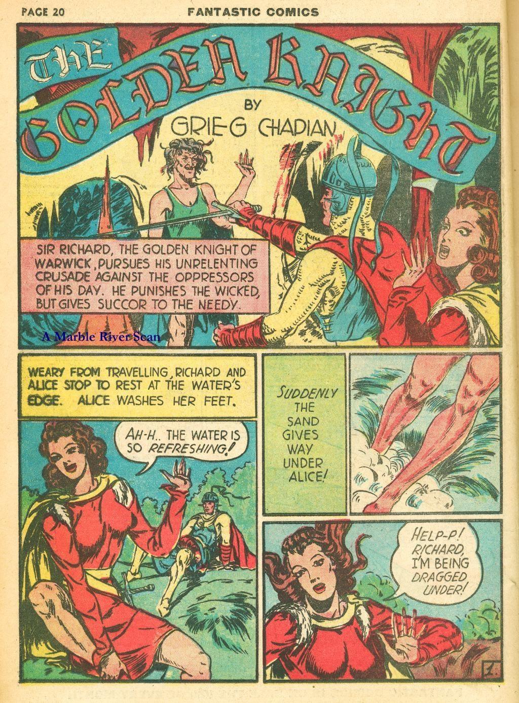 Read online Fantastic Comics comic -  Issue #12 - 22