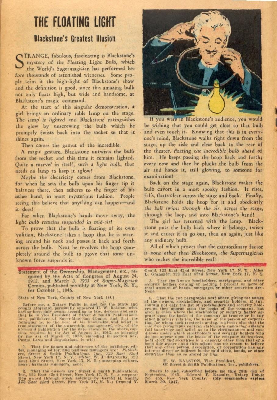 Read online Super-Magician Comics comic -  Issue #45 - 26