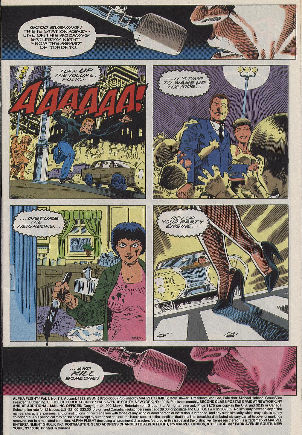 Read online Alpha Flight (1983) comic -  Issue #111 - 2
