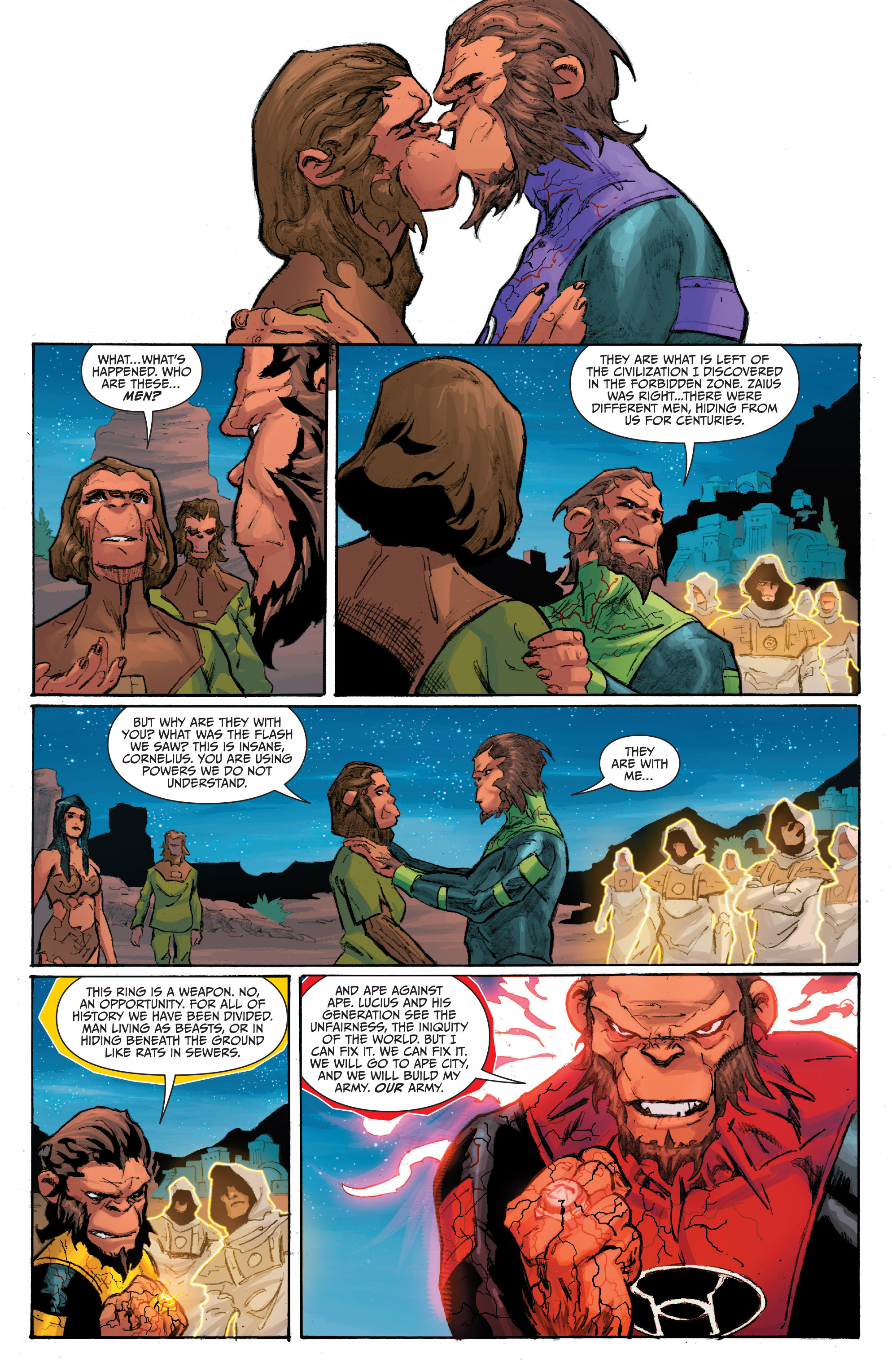 Read online Planet of the Apes/Green Lantern comic -  Issue #4 - 18
