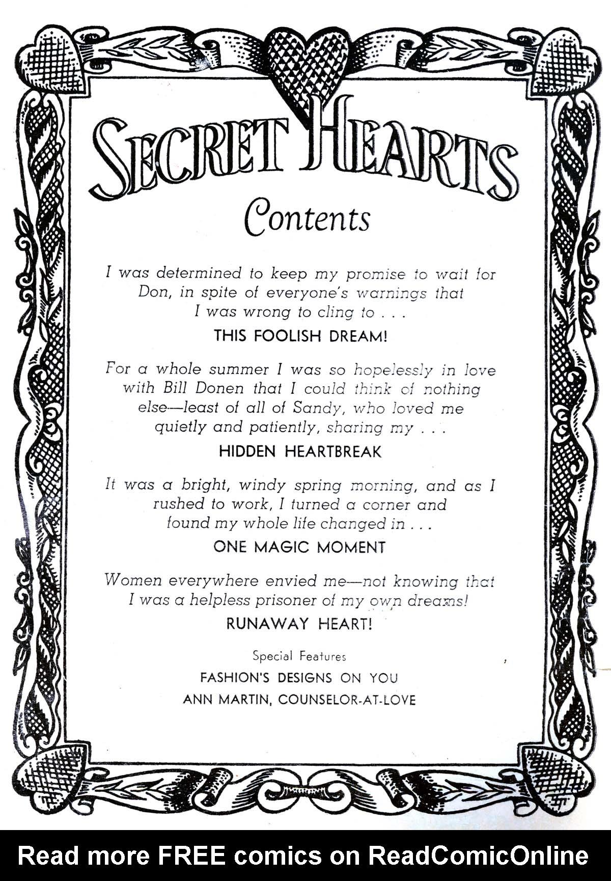 Read online Secret Hearts comic -  Issue #34 - 2