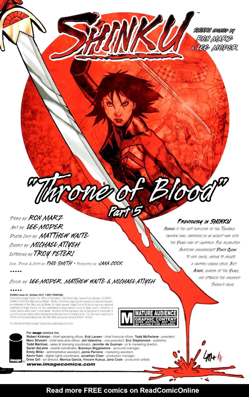 Read online Shinku comic -  Issue #5 - 2