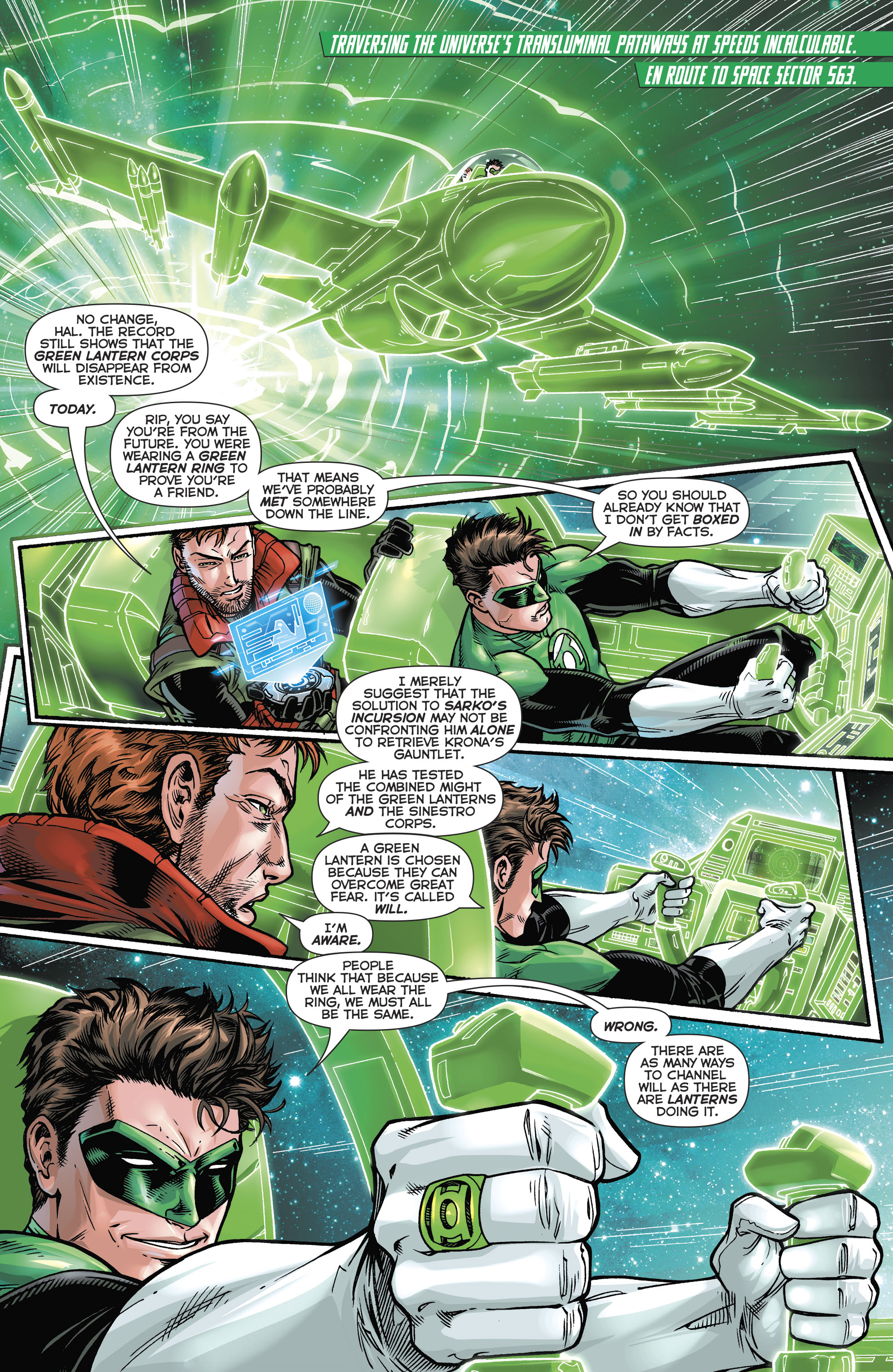 Read online Hal Jordan And The Green Lantern Corps comic -  Issue #21 - 4