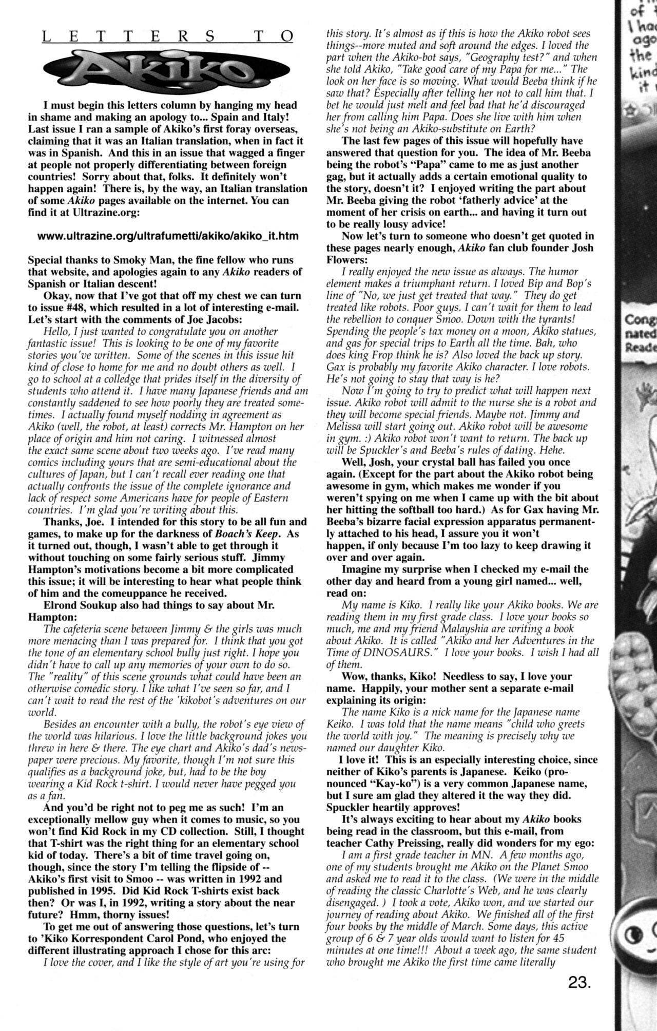 Read online Akiko comic -  Issue #49 - 15