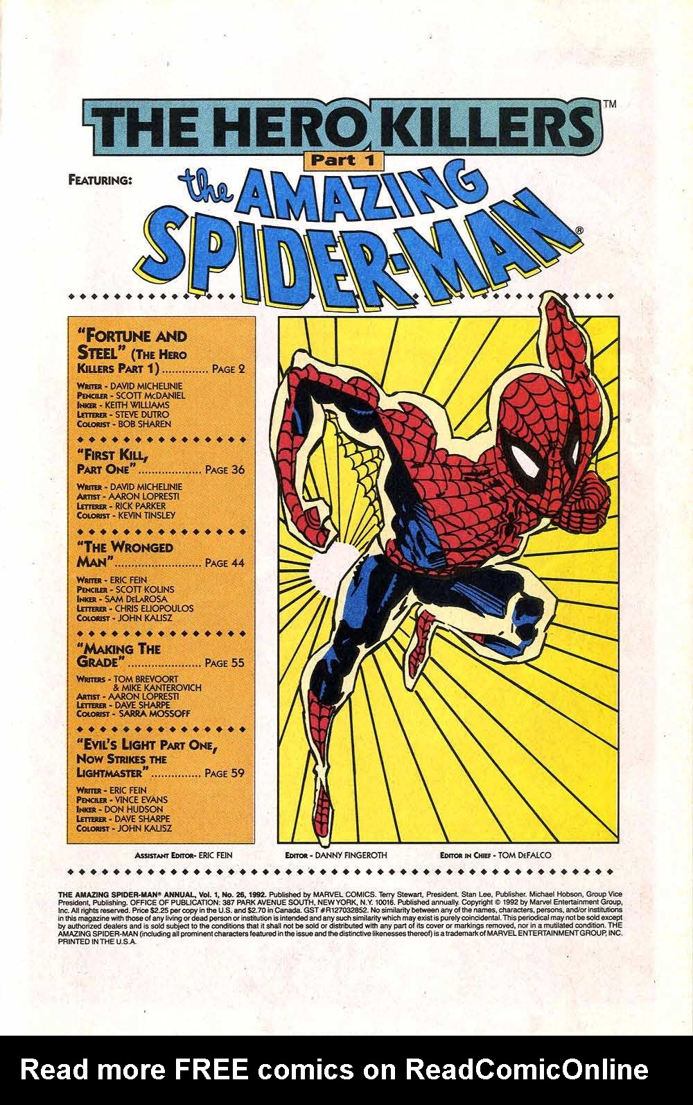 The Amazing Spider-Man (1963) _Annual_26 Page 2