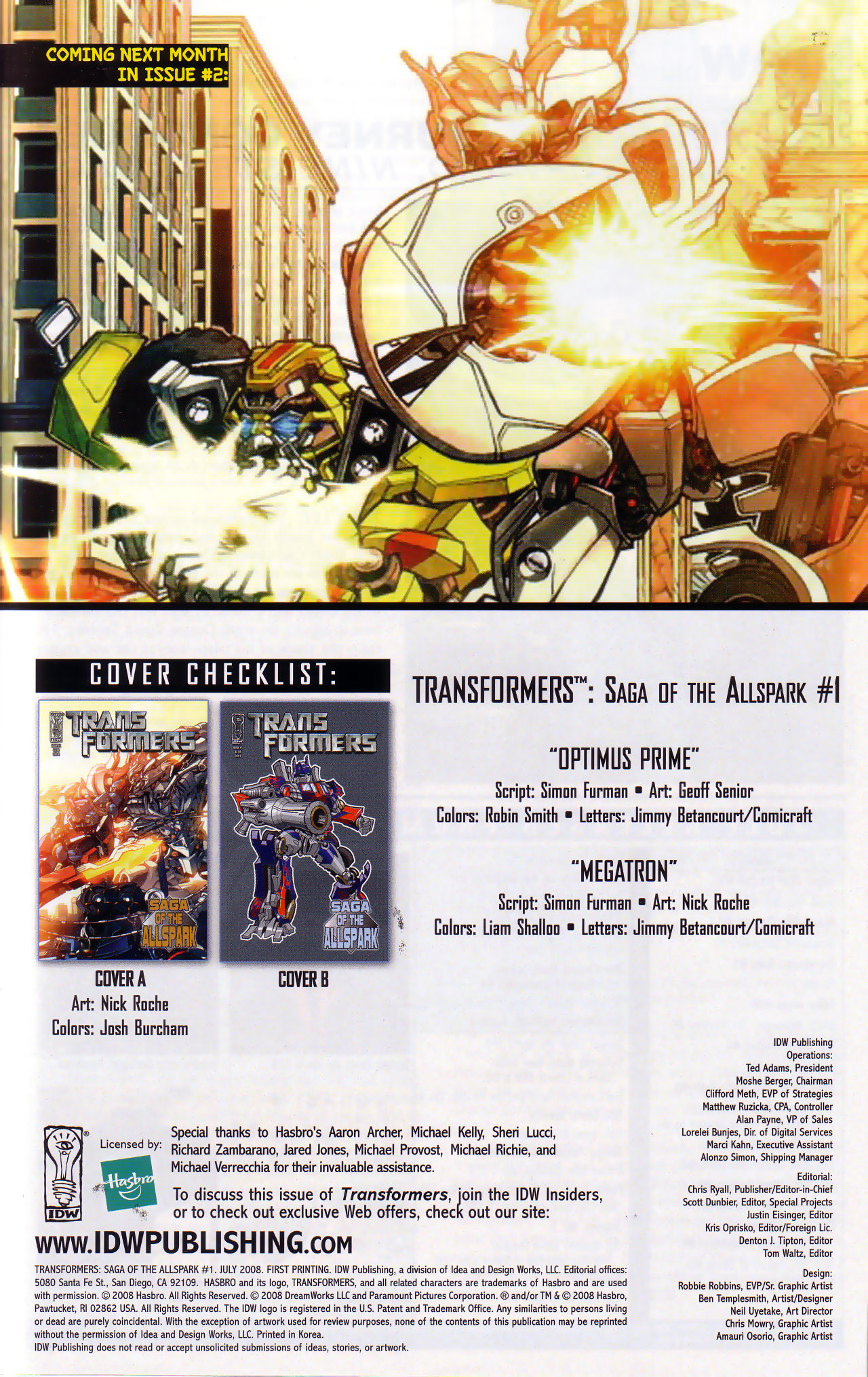 Read online Transformers: Saga of the Allspark comic -  Issue #1 - 24