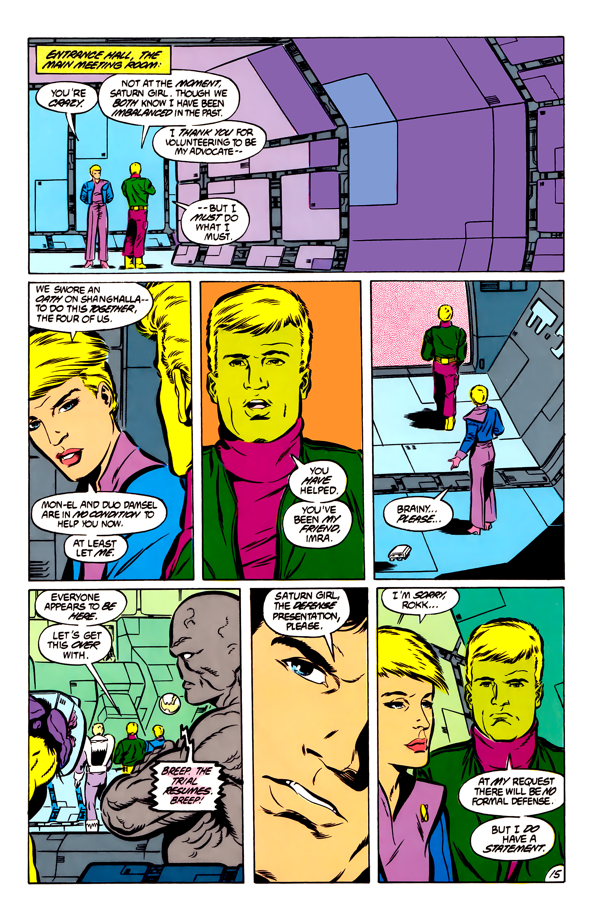 Legion of Super-Heroes (1984) 51 Page 15