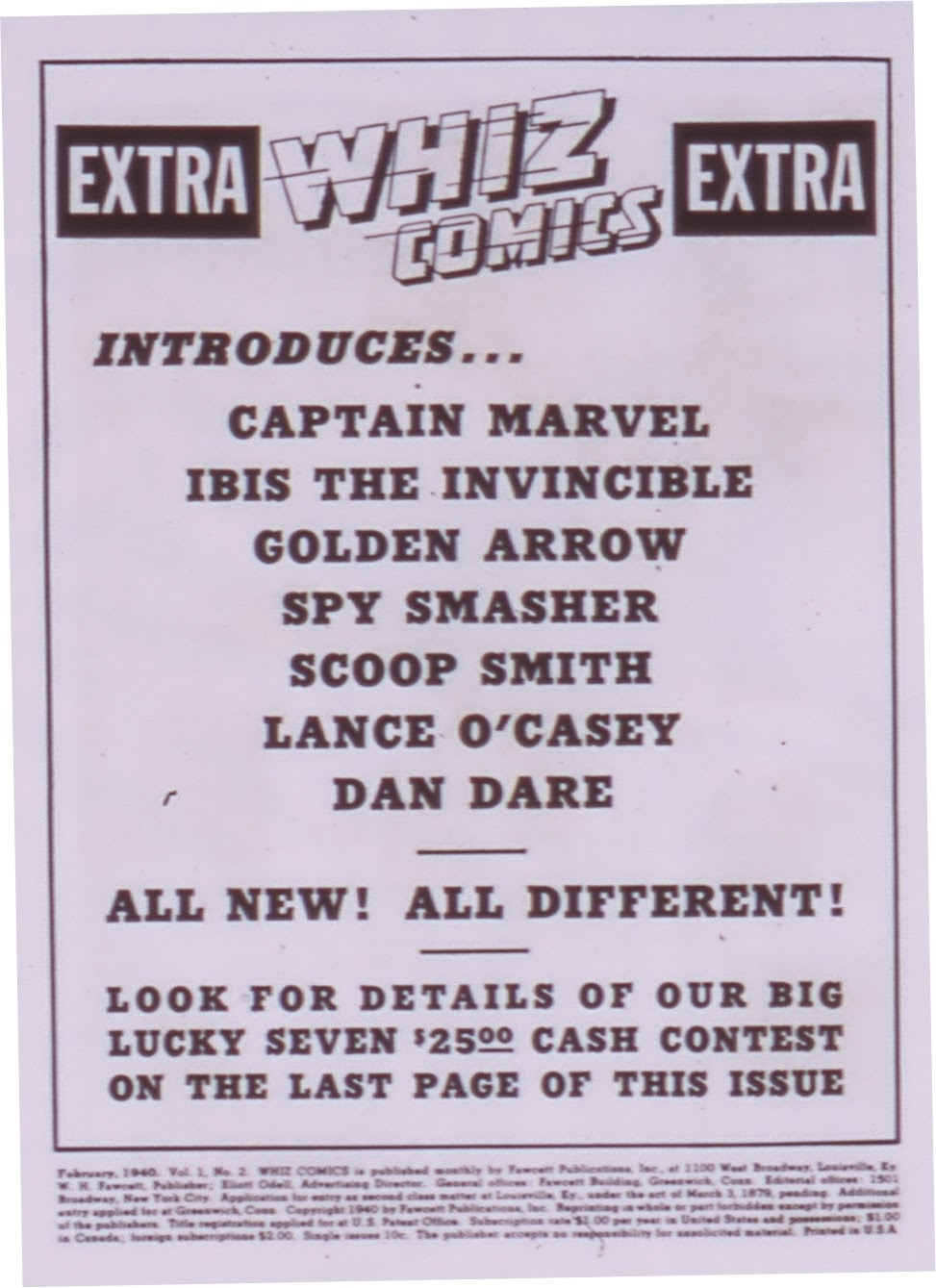 Read online WHIZ Comics comic -  Issue #1 - 2