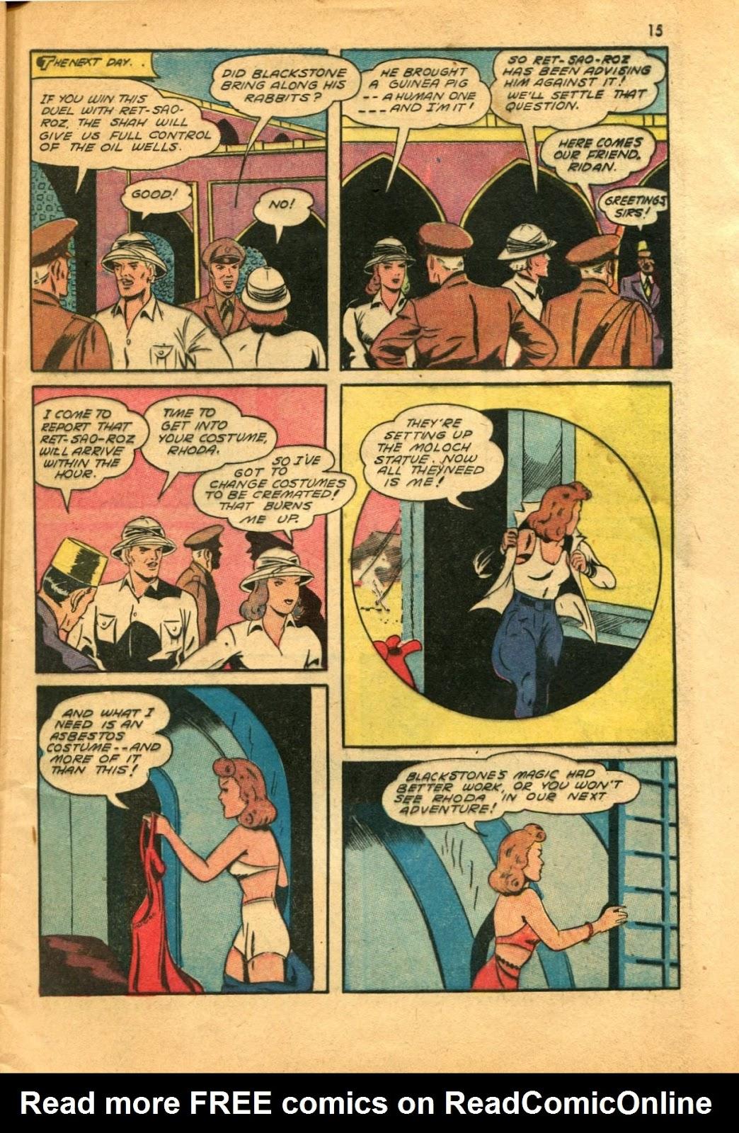 Read online Super-Magician Comics comic -  Issue #11 - 15