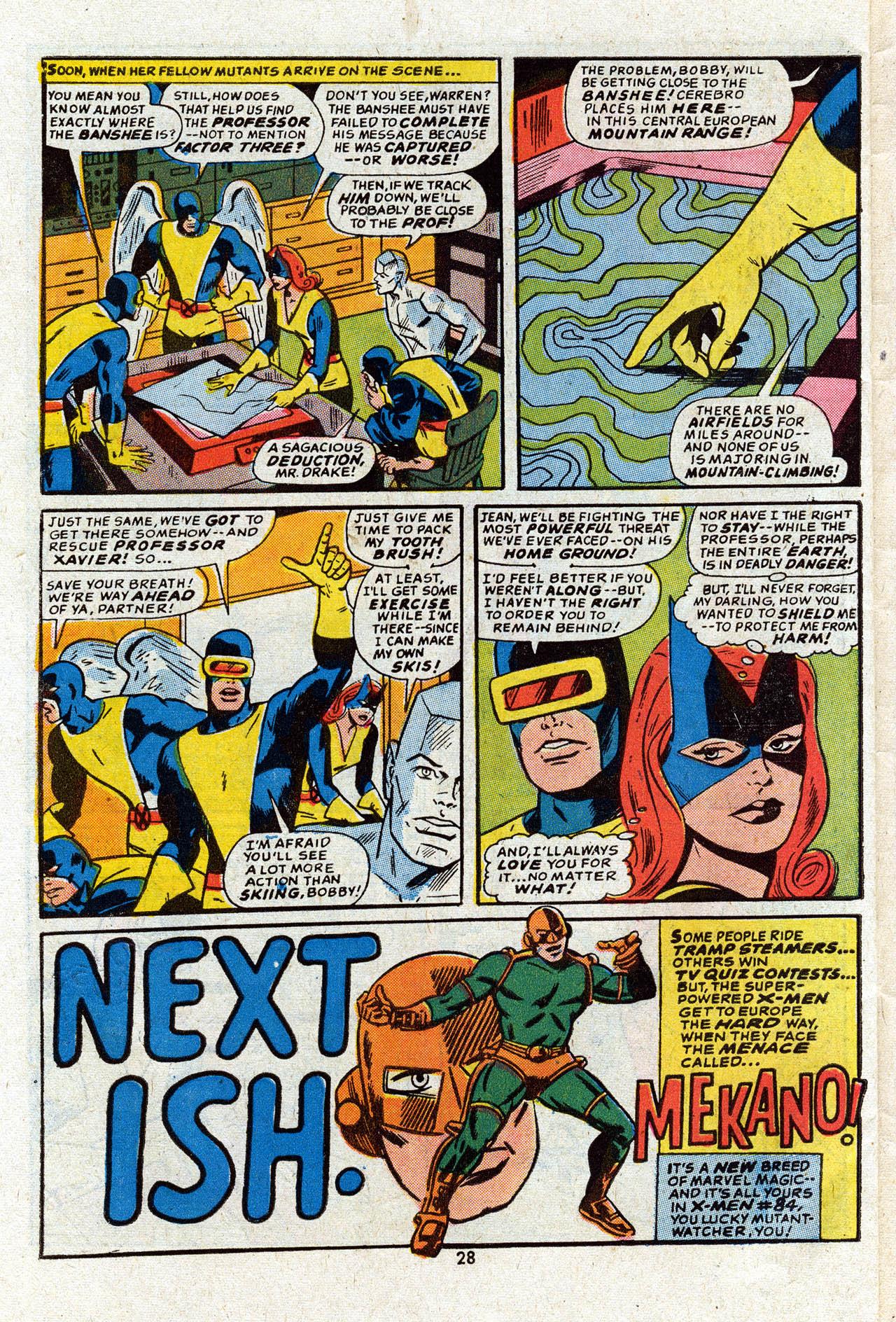 Read online Uncanny X-Men (1963) comic -  Issue #83 - 30