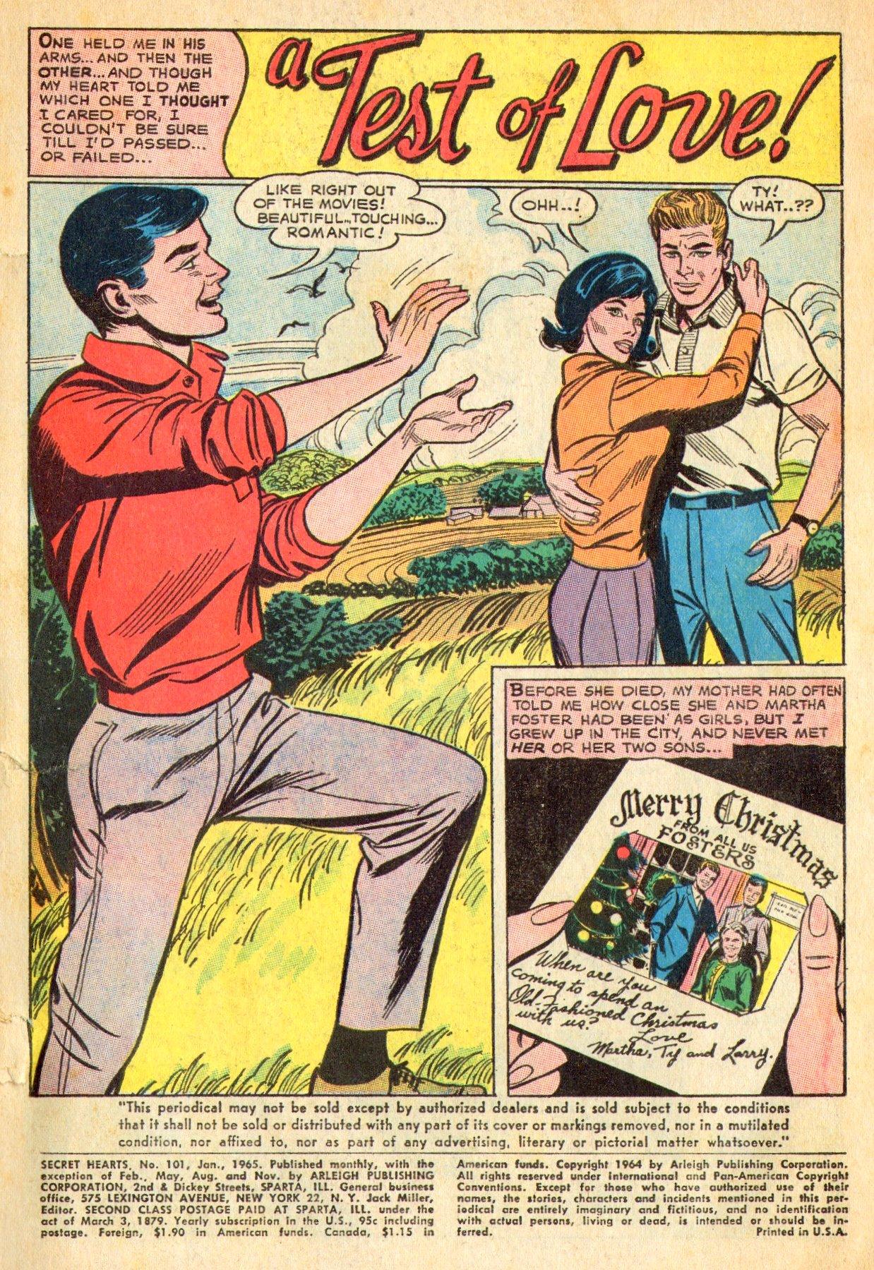 Read online Secret Hearts comic -  Issue #101 - 3
