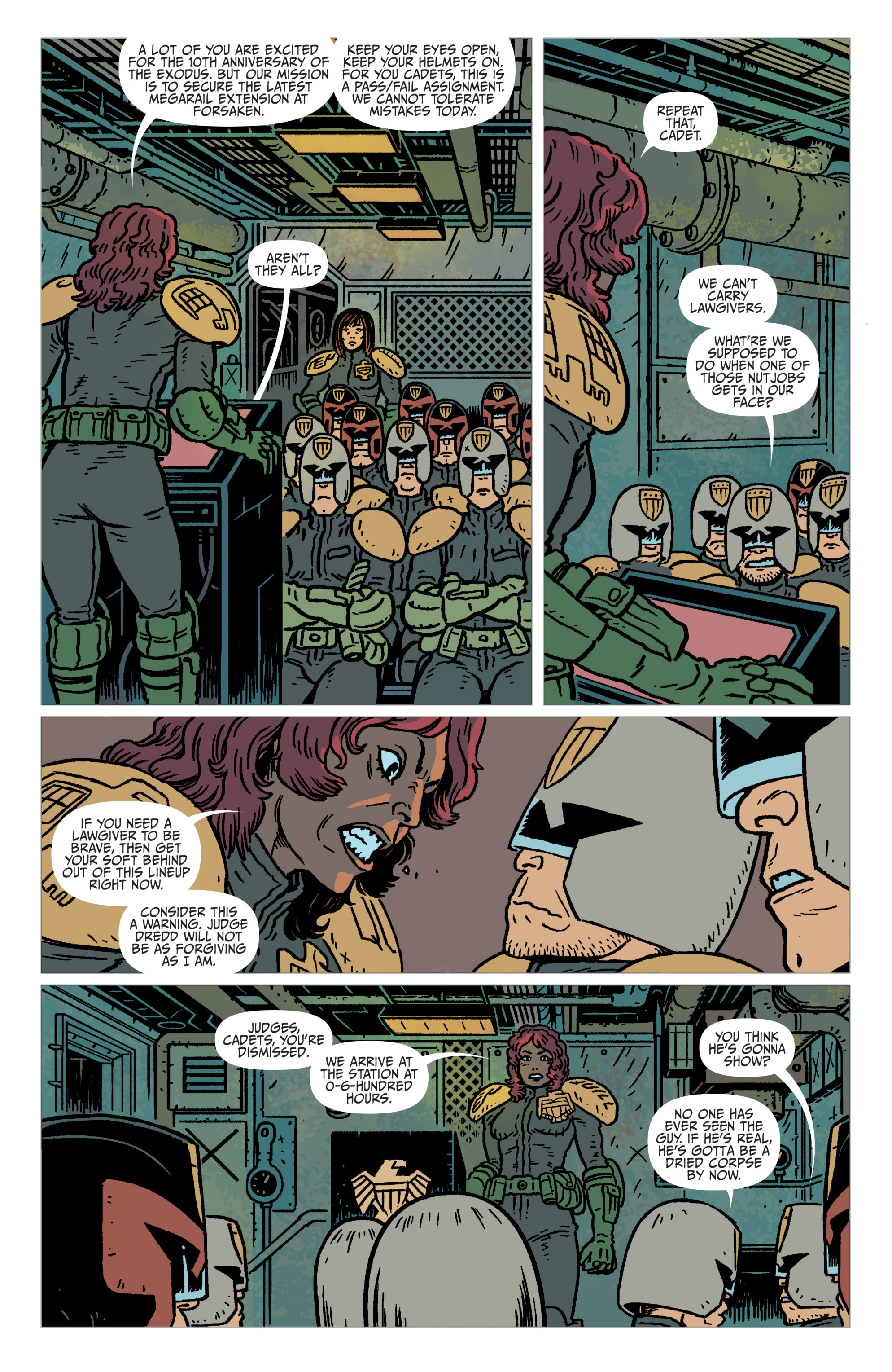 Read online Judge Dredd: The Blessed Earth comic -  Issue #2 - 7
