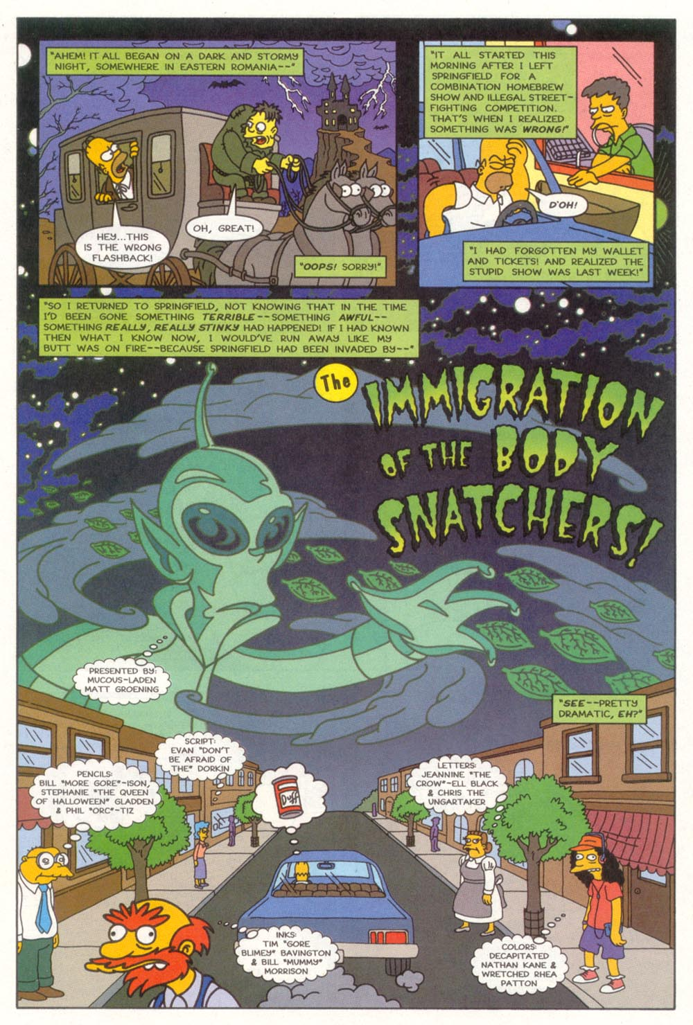 Read online Treehouse of Horror comic -  Issue #3 - 4