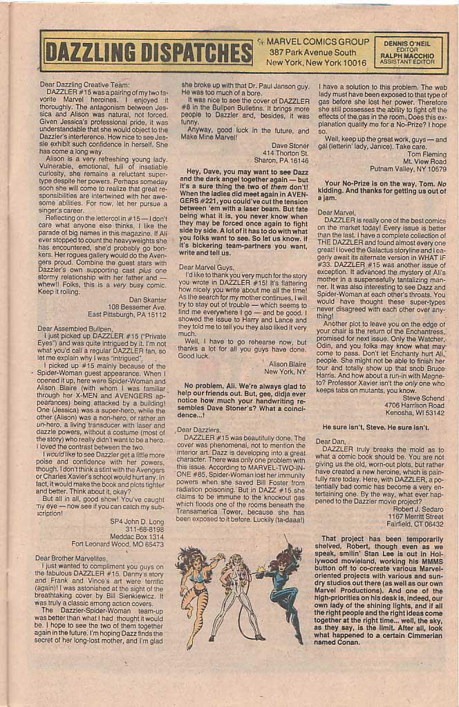 Dazzler (1981) 20 Page 24